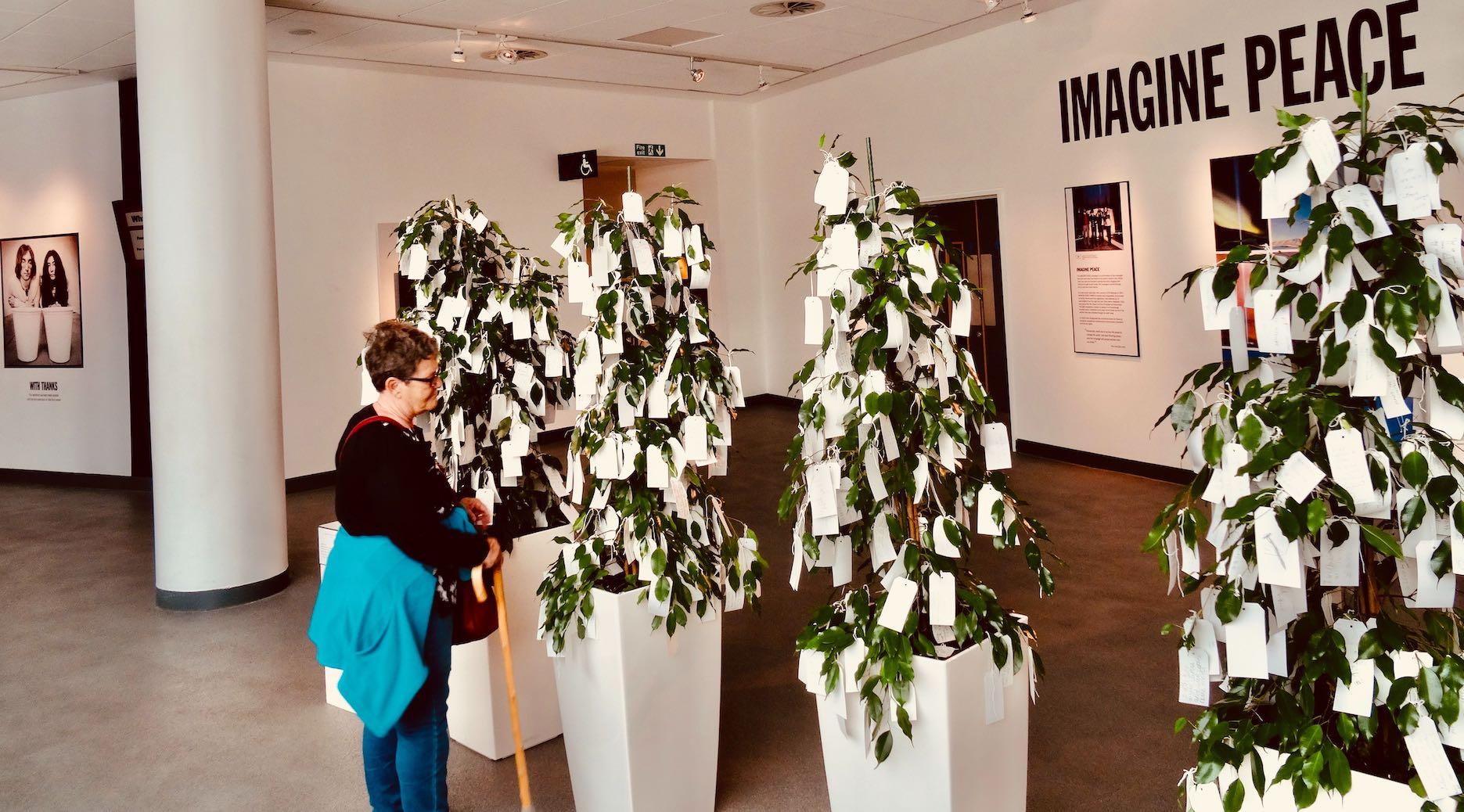 Yoko Ono's Imagine Peace Wish Trees