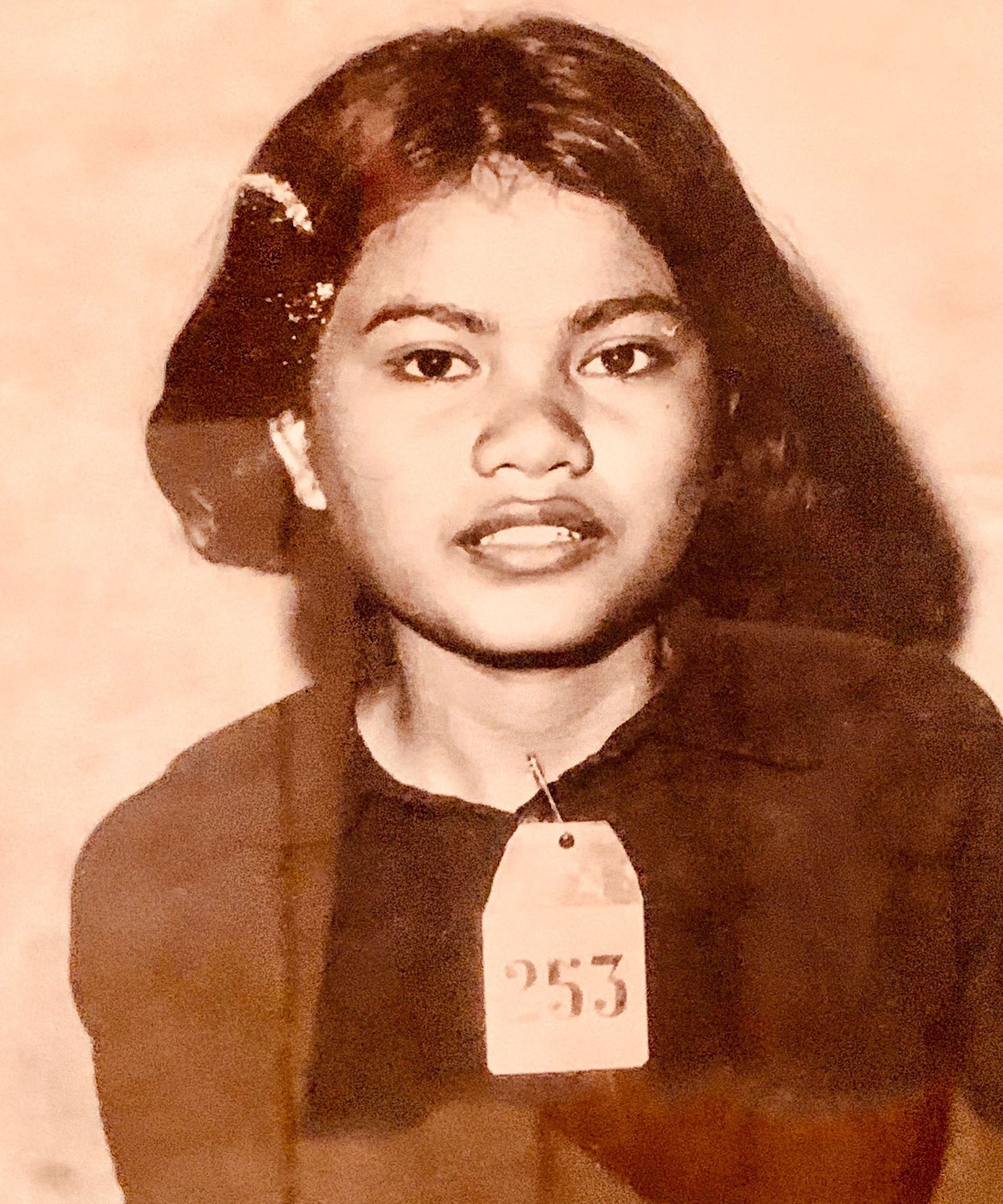 Young female victim Cambodian genocide