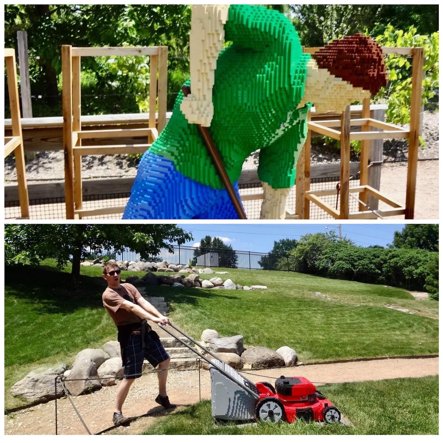 Art with Lego Blocks Reiman Gardens Iowa.
