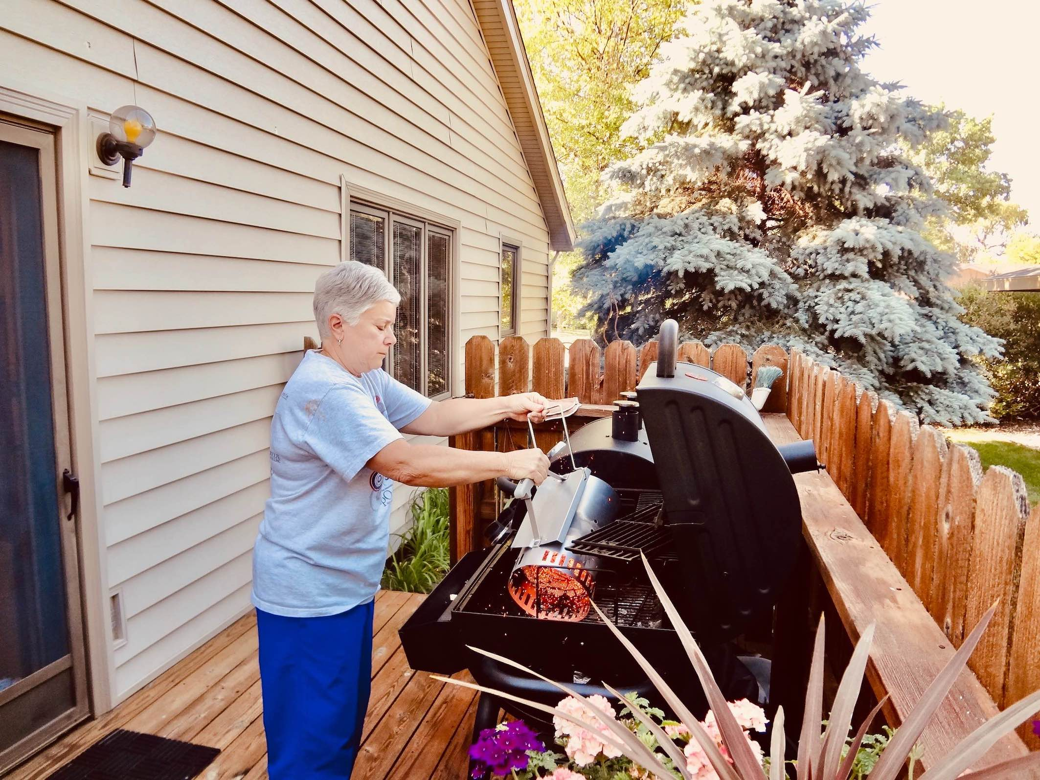 Barbecuing in Nevada Iowa.