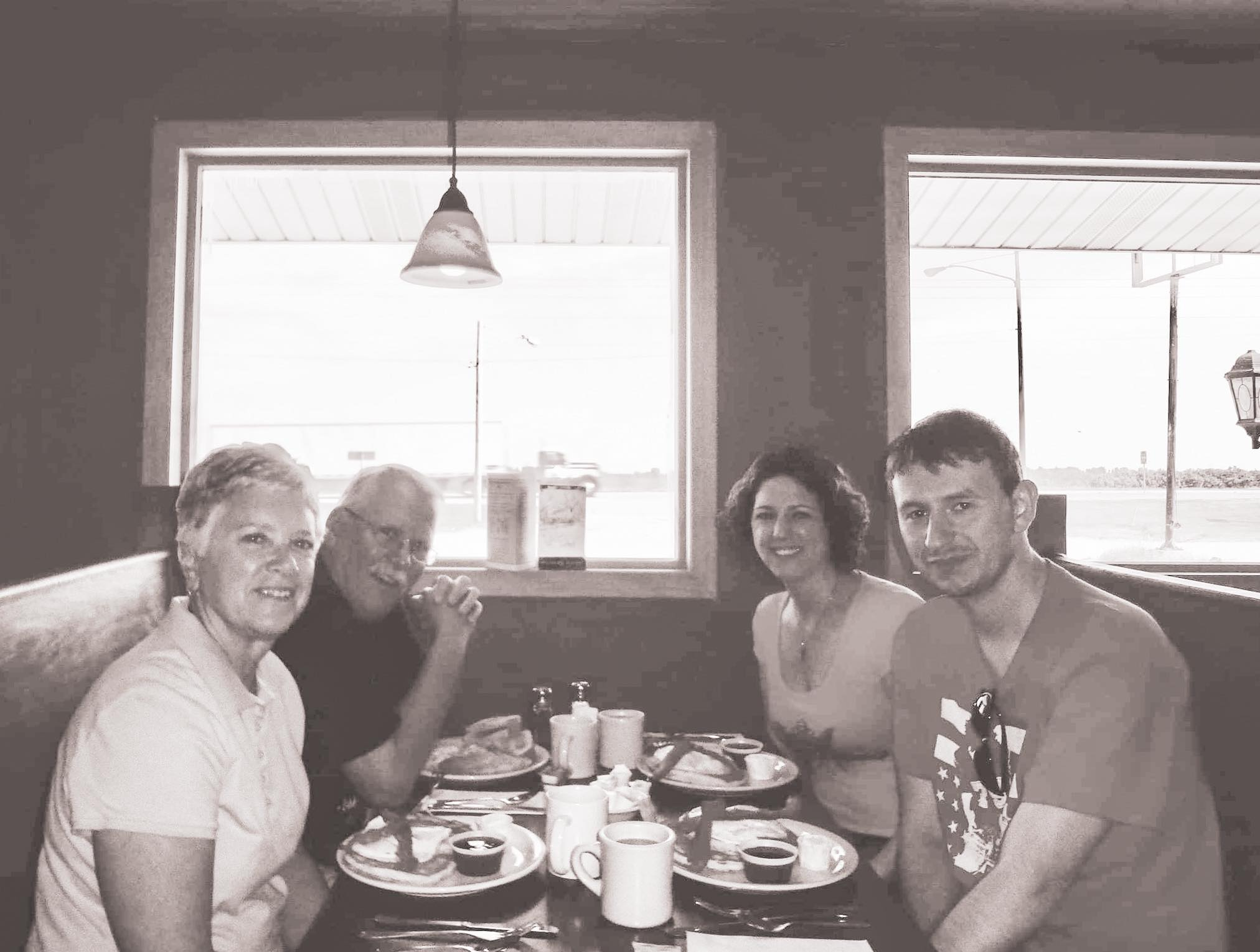 Breakfast at Country House Diner New Highway 30 Iowa