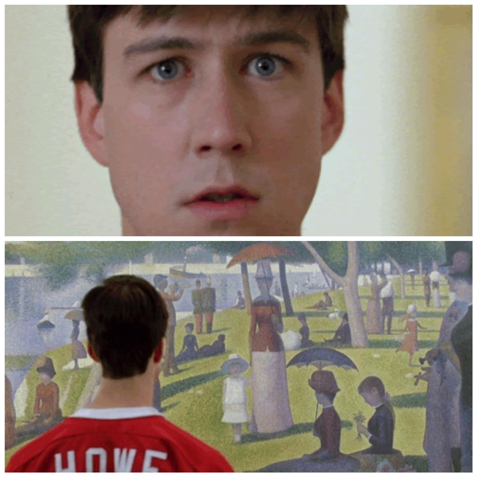 Cameron at The Art Institute Ferris Bueller's Day Off