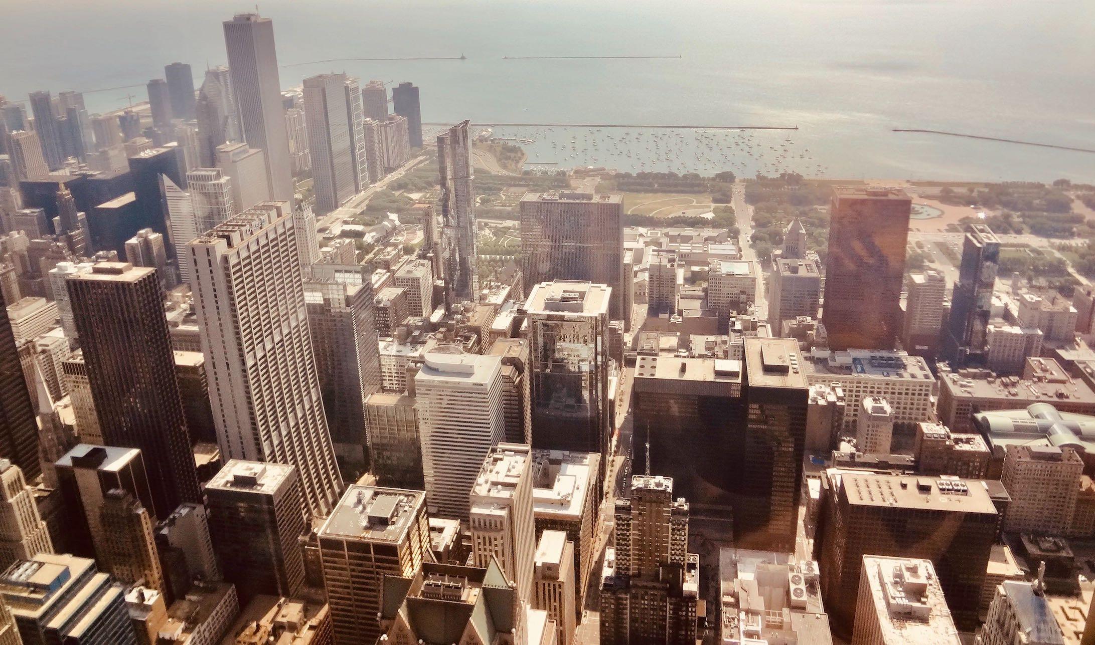 Chicago Nostalgia views from Willis Tower