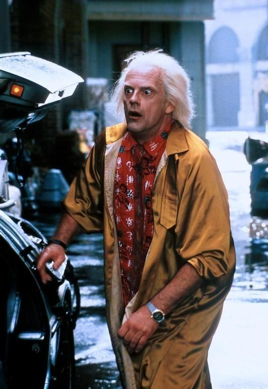 Doc Brown Christopher Lloyd Back to the Future