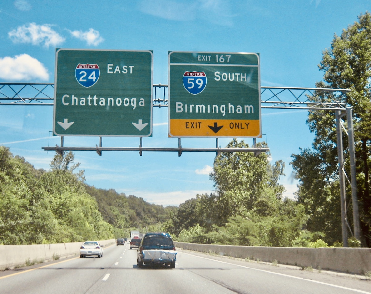 Driving from Nashville to Chattanooga