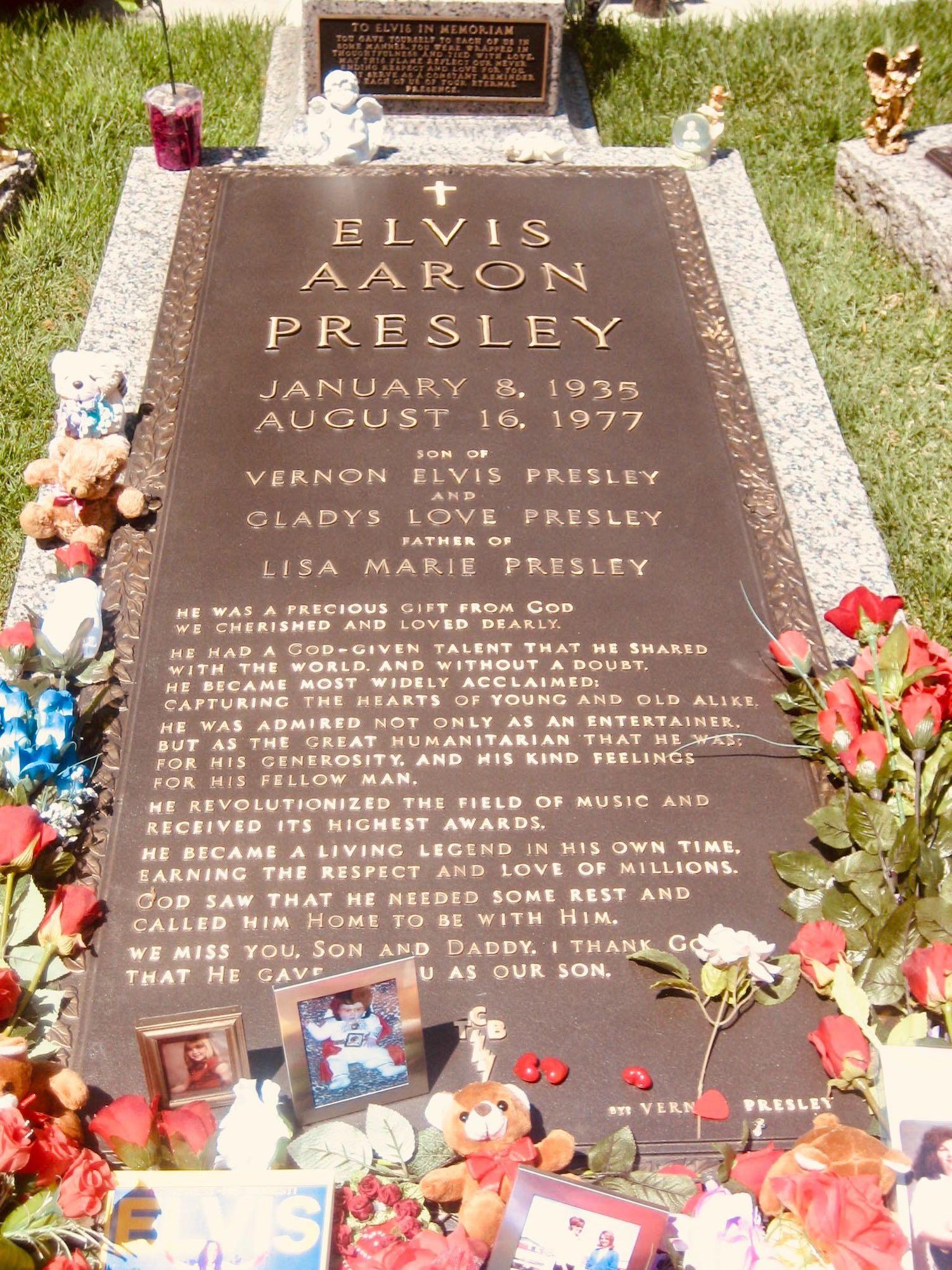 Elvis Presley's grave at Graceland Memphis