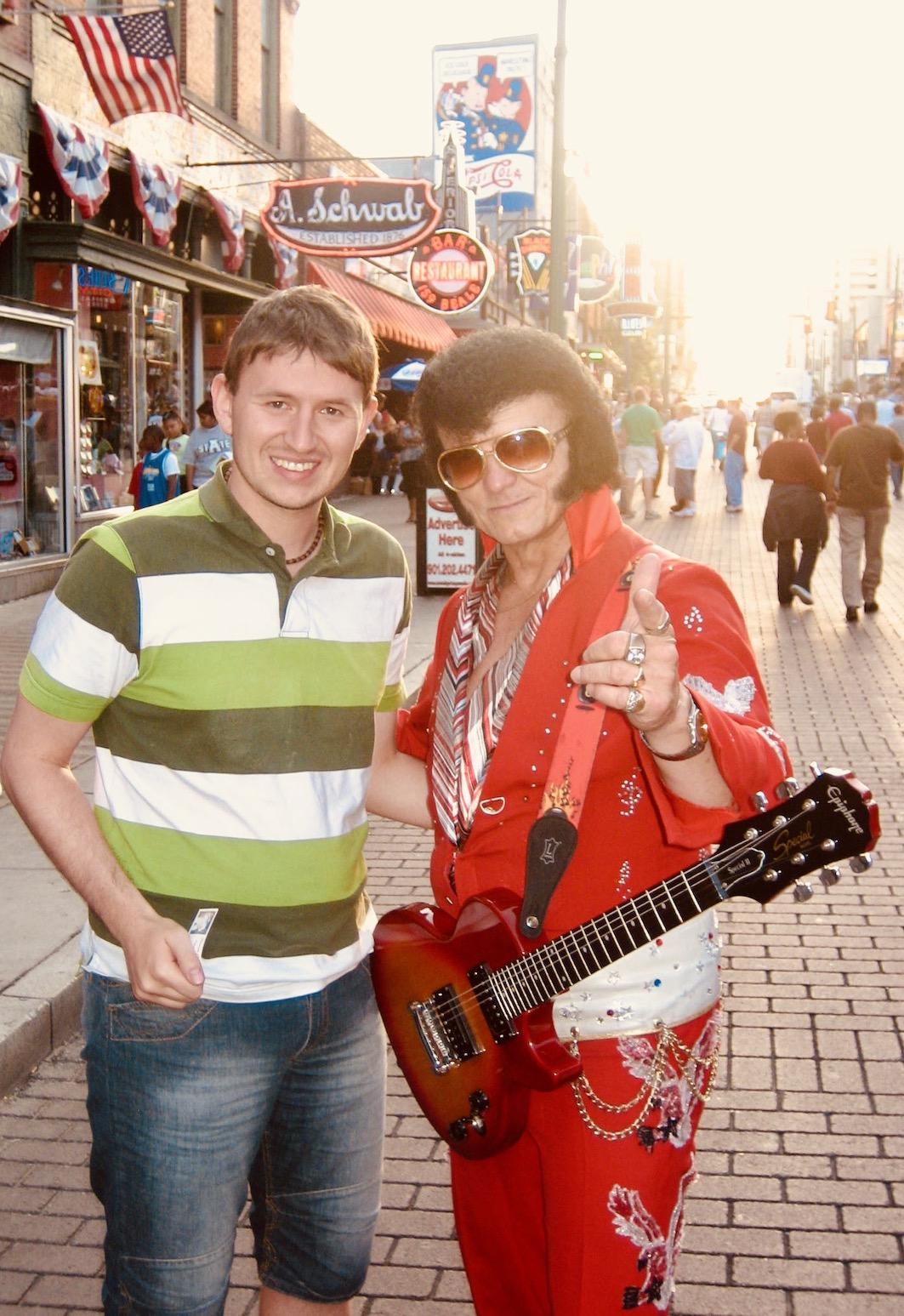Elvis impersonator Beale Street Memphis
