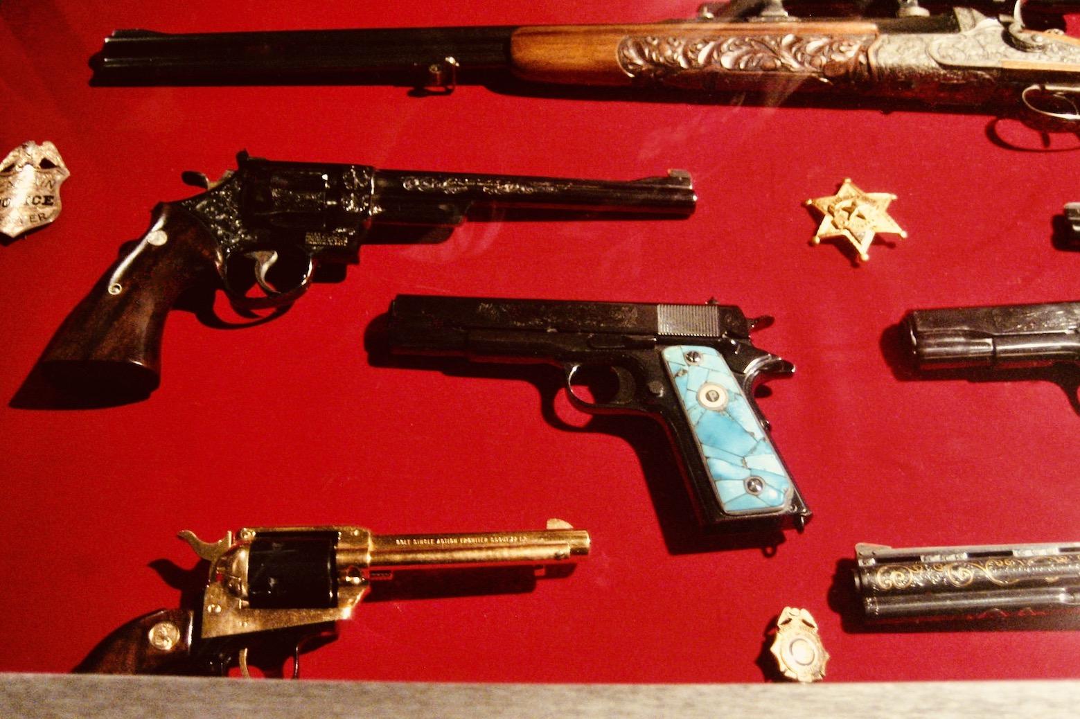Memphis Nostalgia Elvis Presley's gun collection