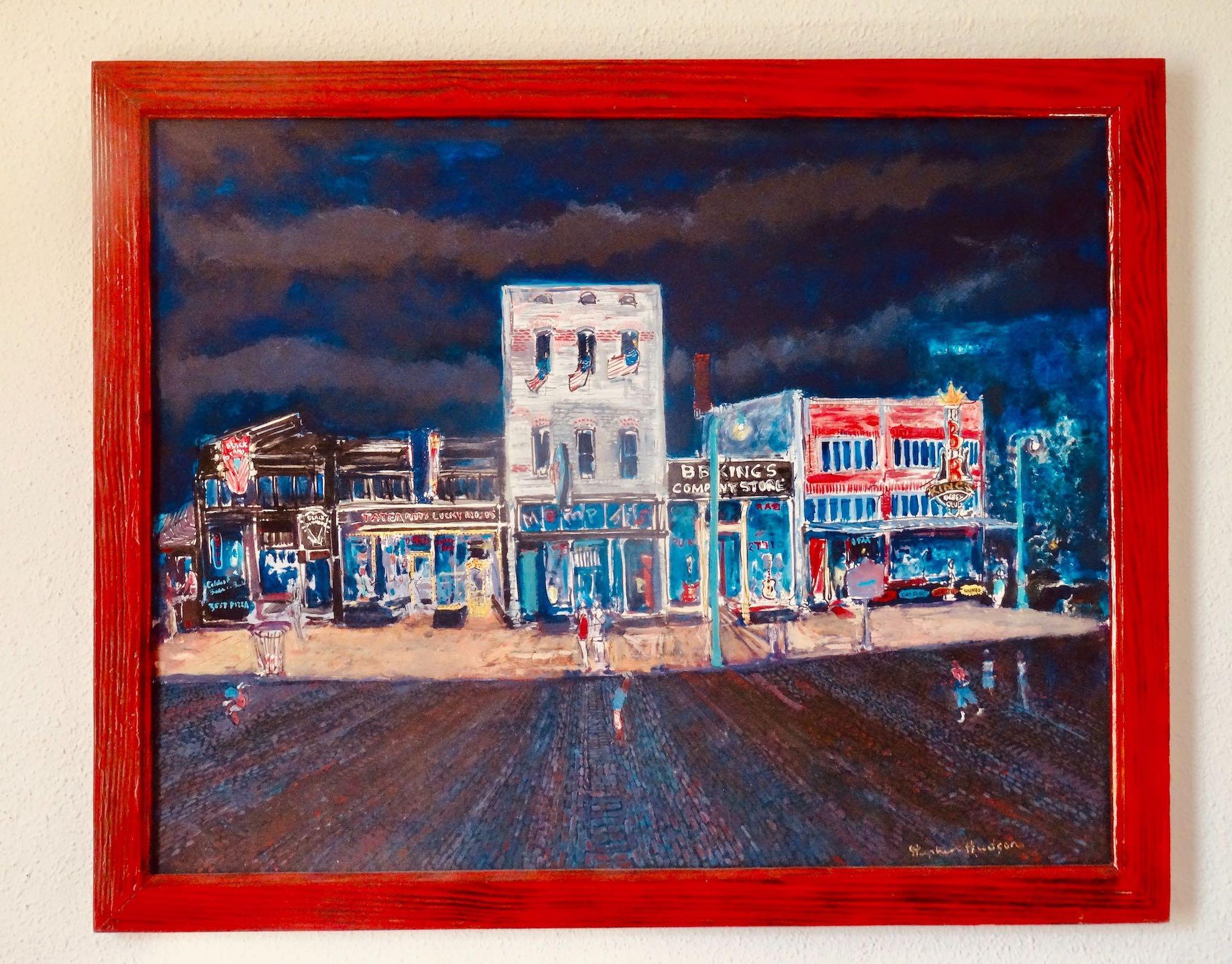 Memphis Nostalgia painting of Beale Street Stephen Hudson