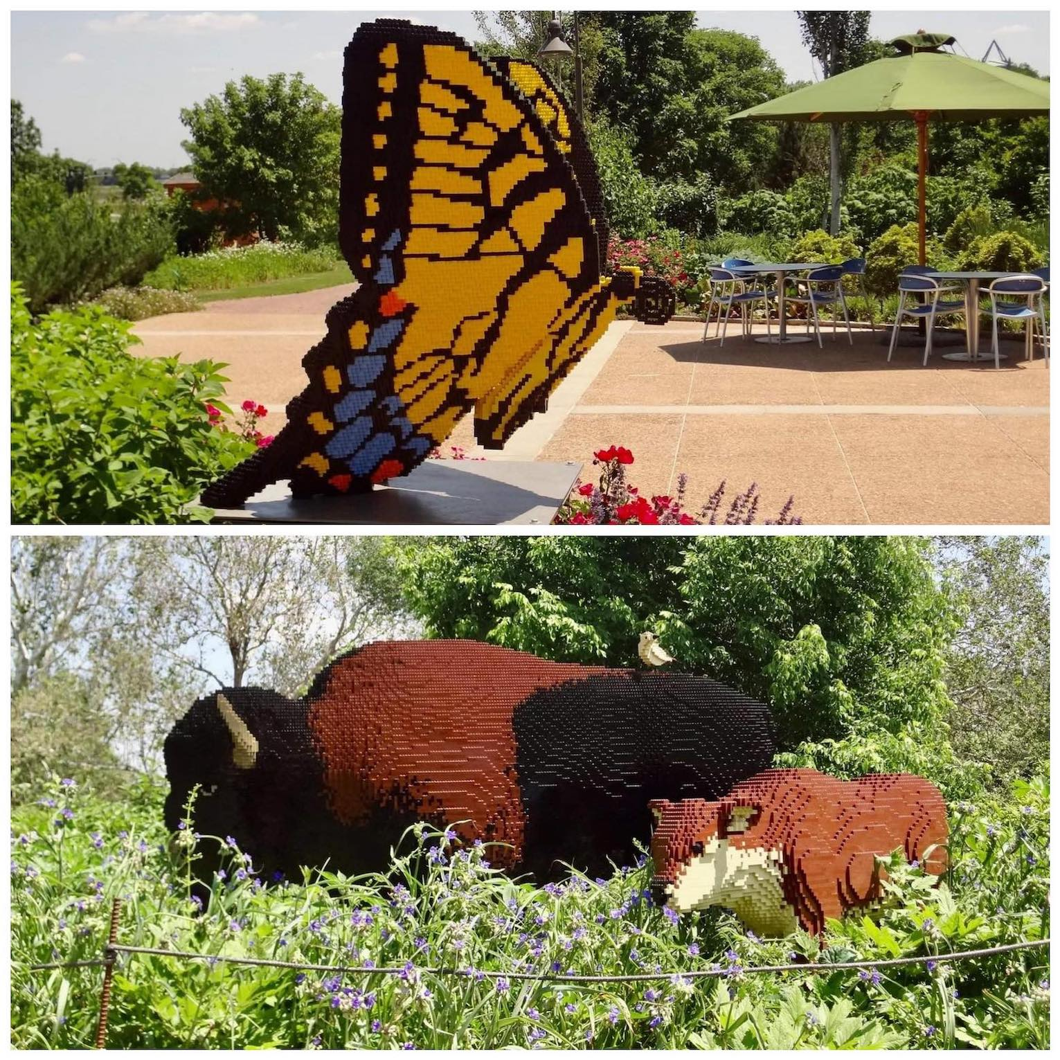Nature Connects Art with Lego Blocks Reiman Gardens