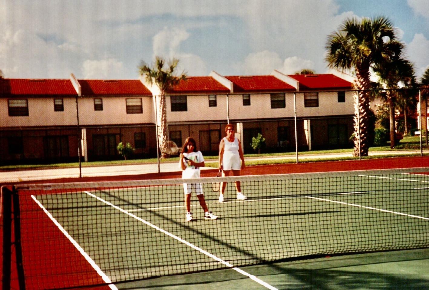 Tennis courts at Fantasy World Club Villas 1994