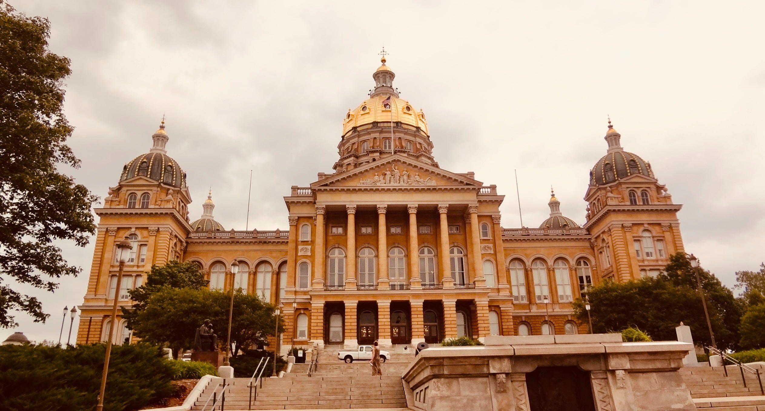 The Iowa State Capitol.
