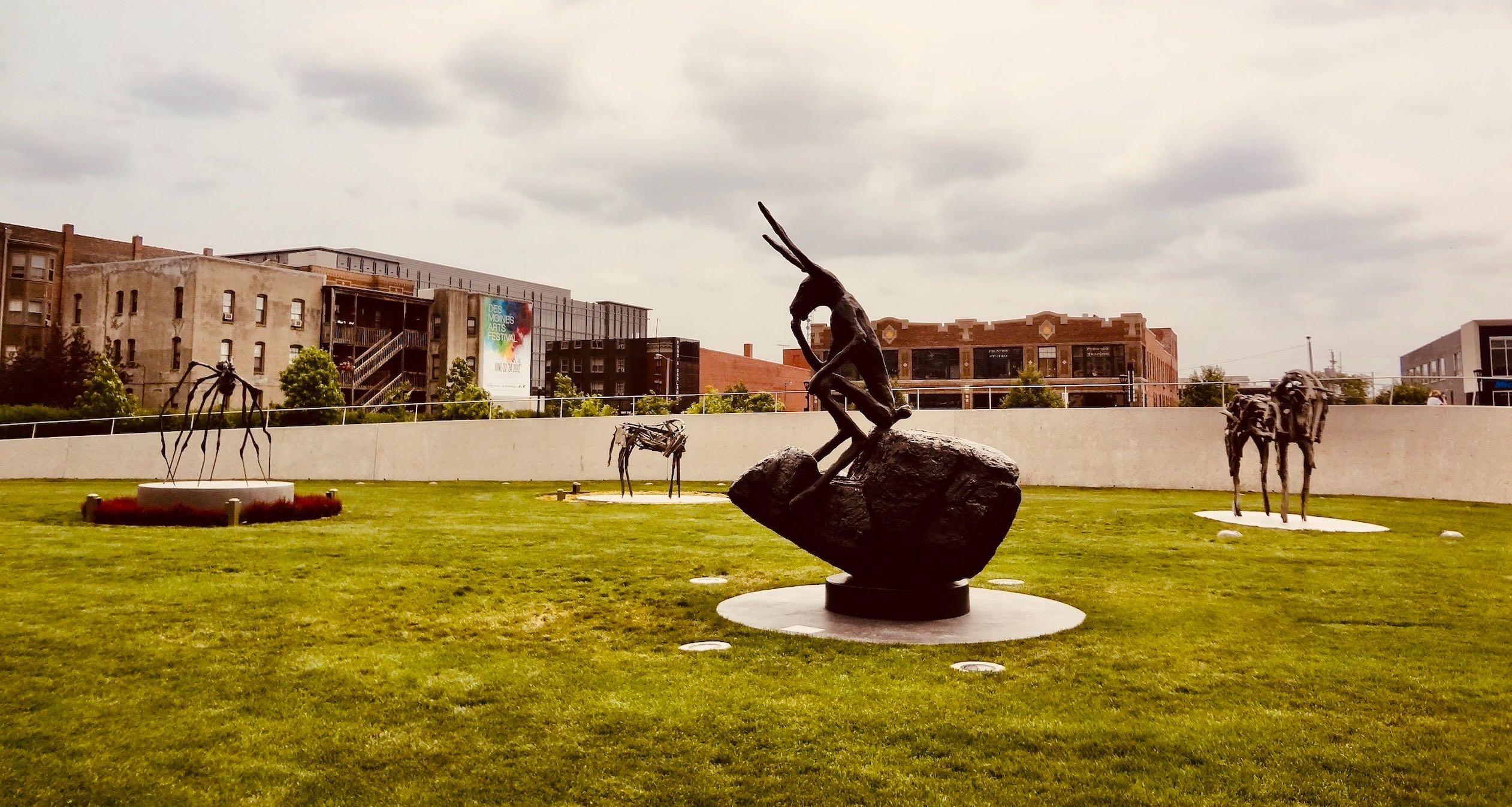 Visit Pappajohn Sculpture Park.