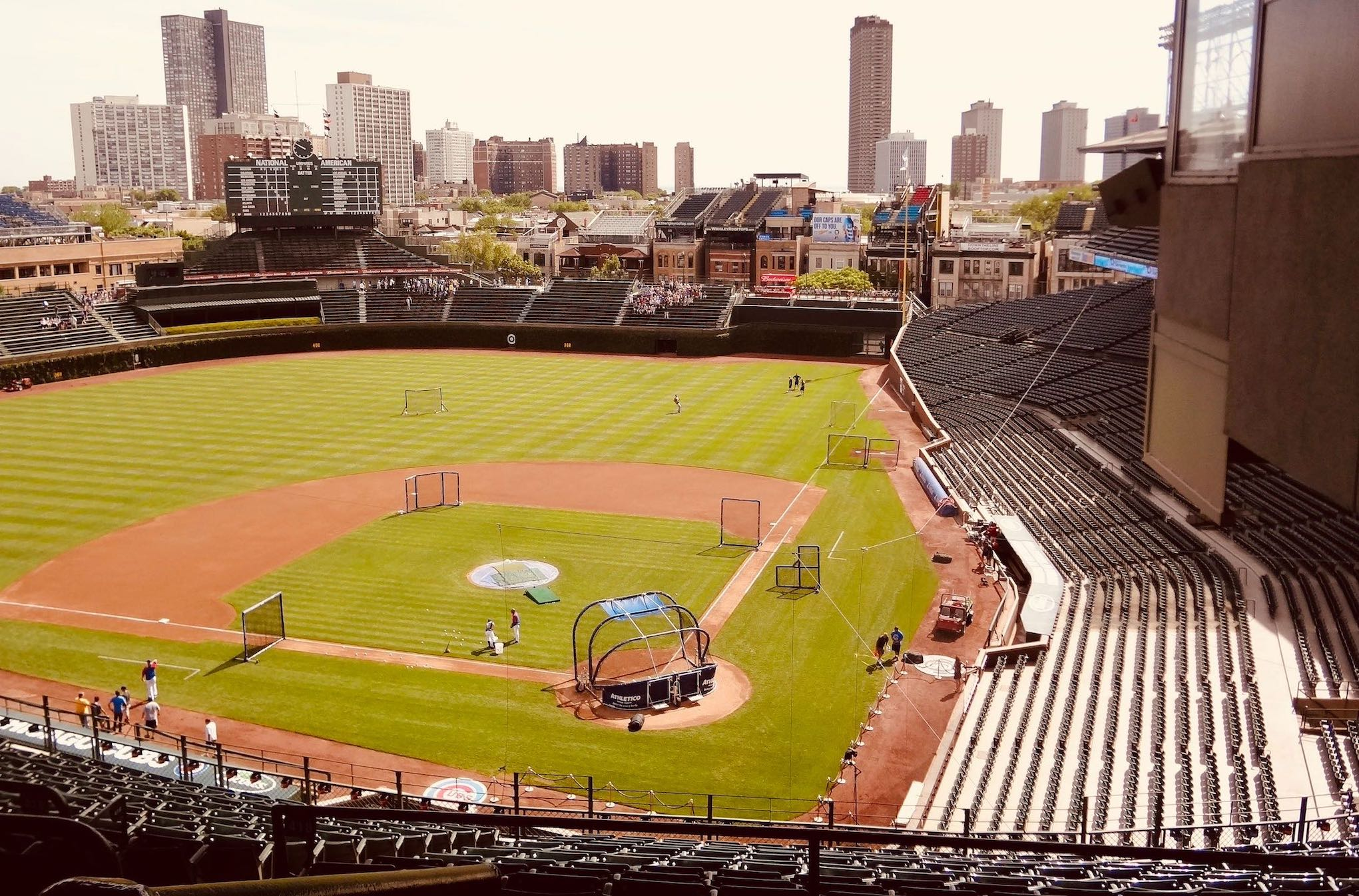 Visiting Wrigley Field in Chicago.