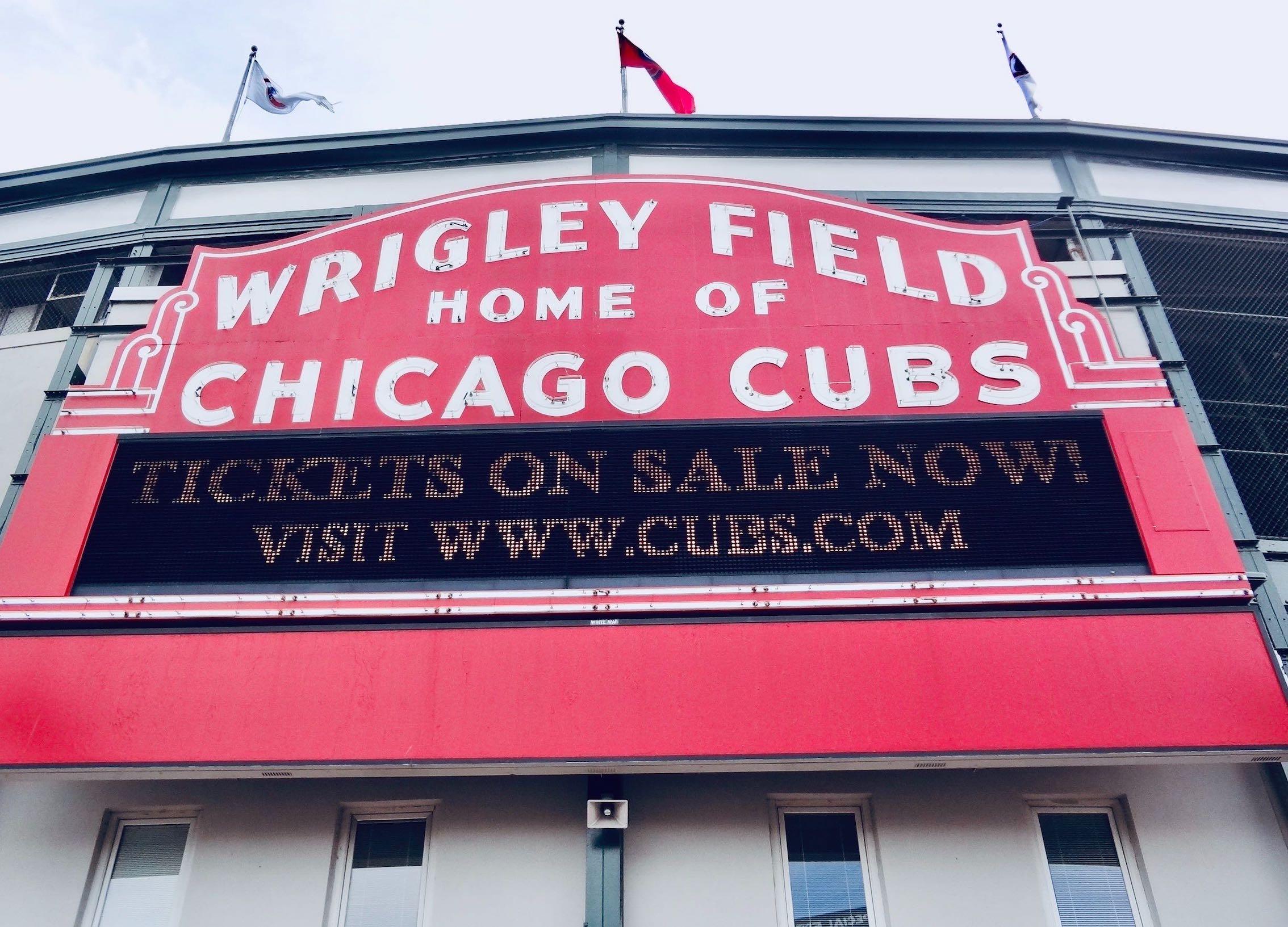 Wrigley Field Baseball Stadium in Chicago