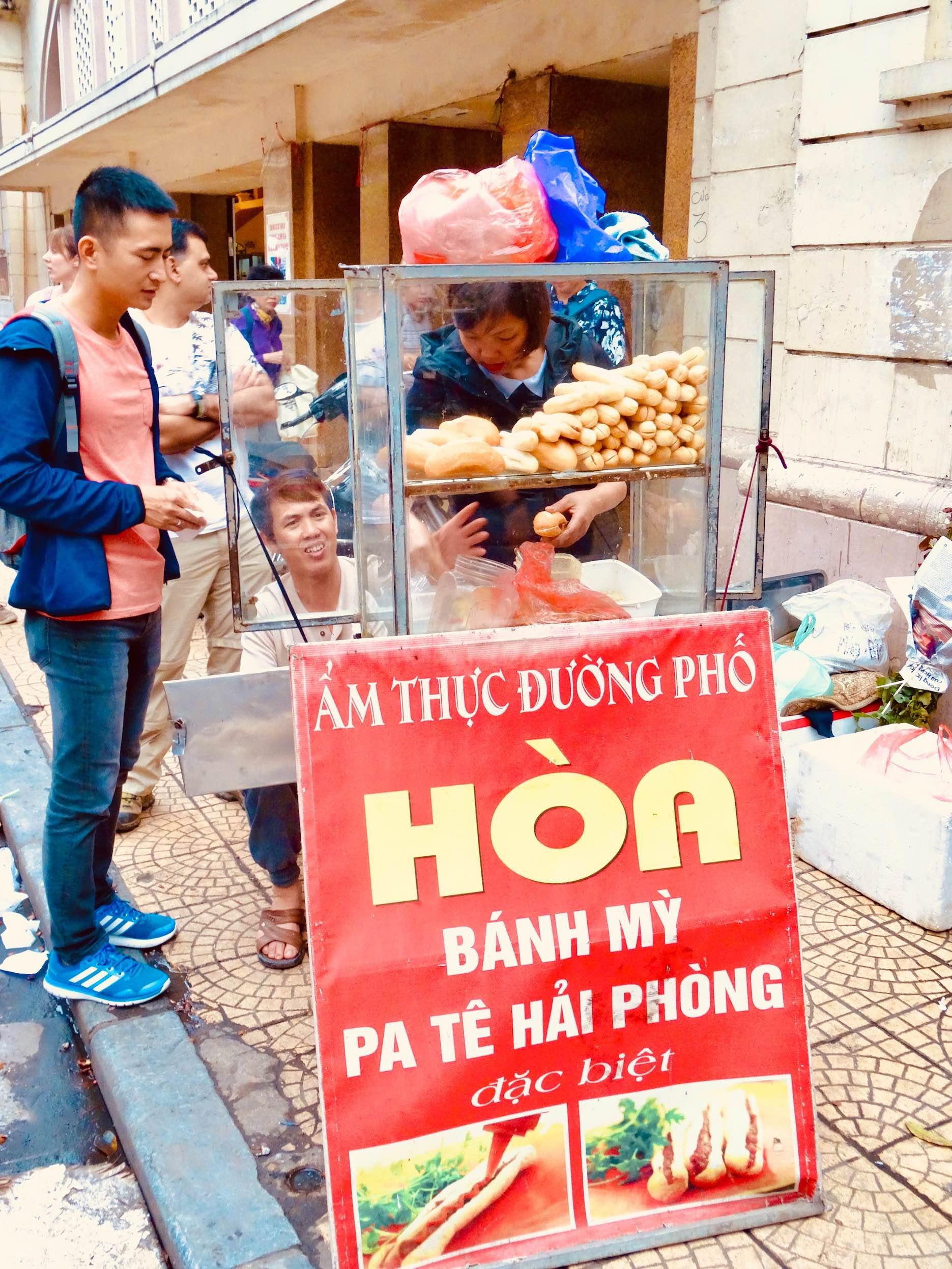 Banh Mi cart Hanoi.