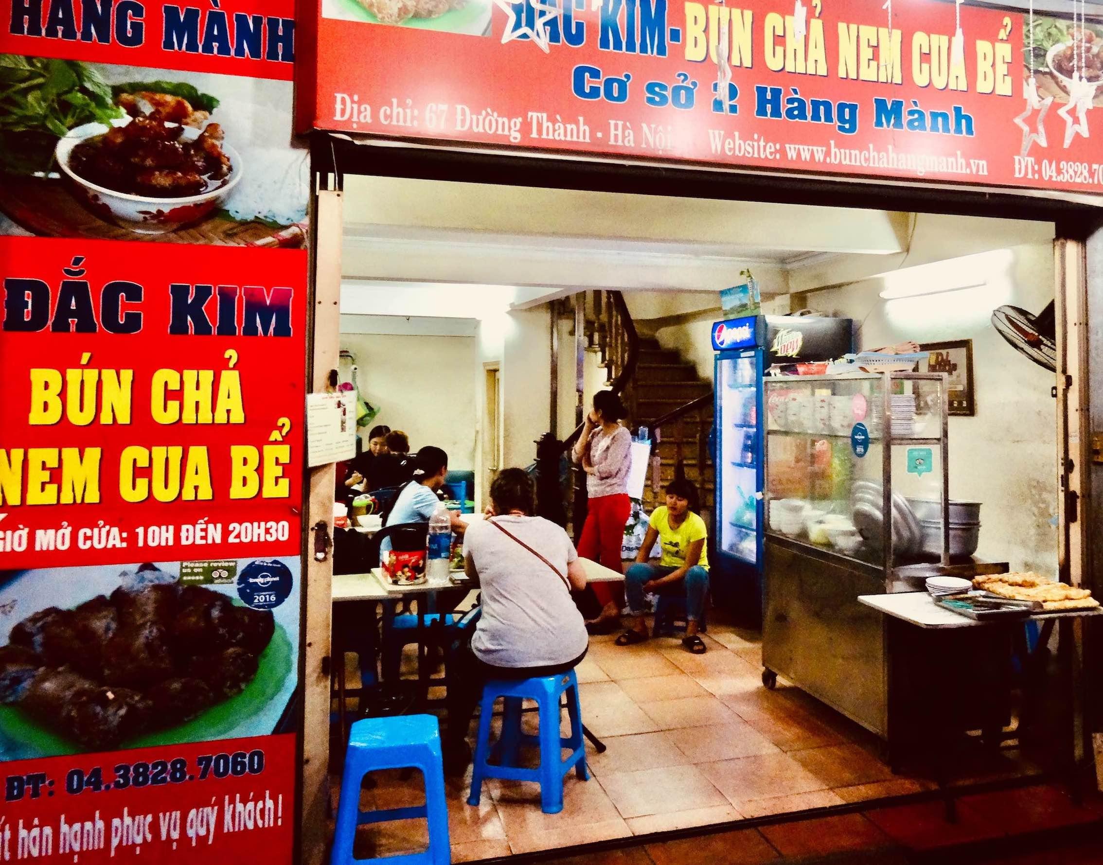 Bun Cha Nem Cua Be Dac Kim in Hanoi