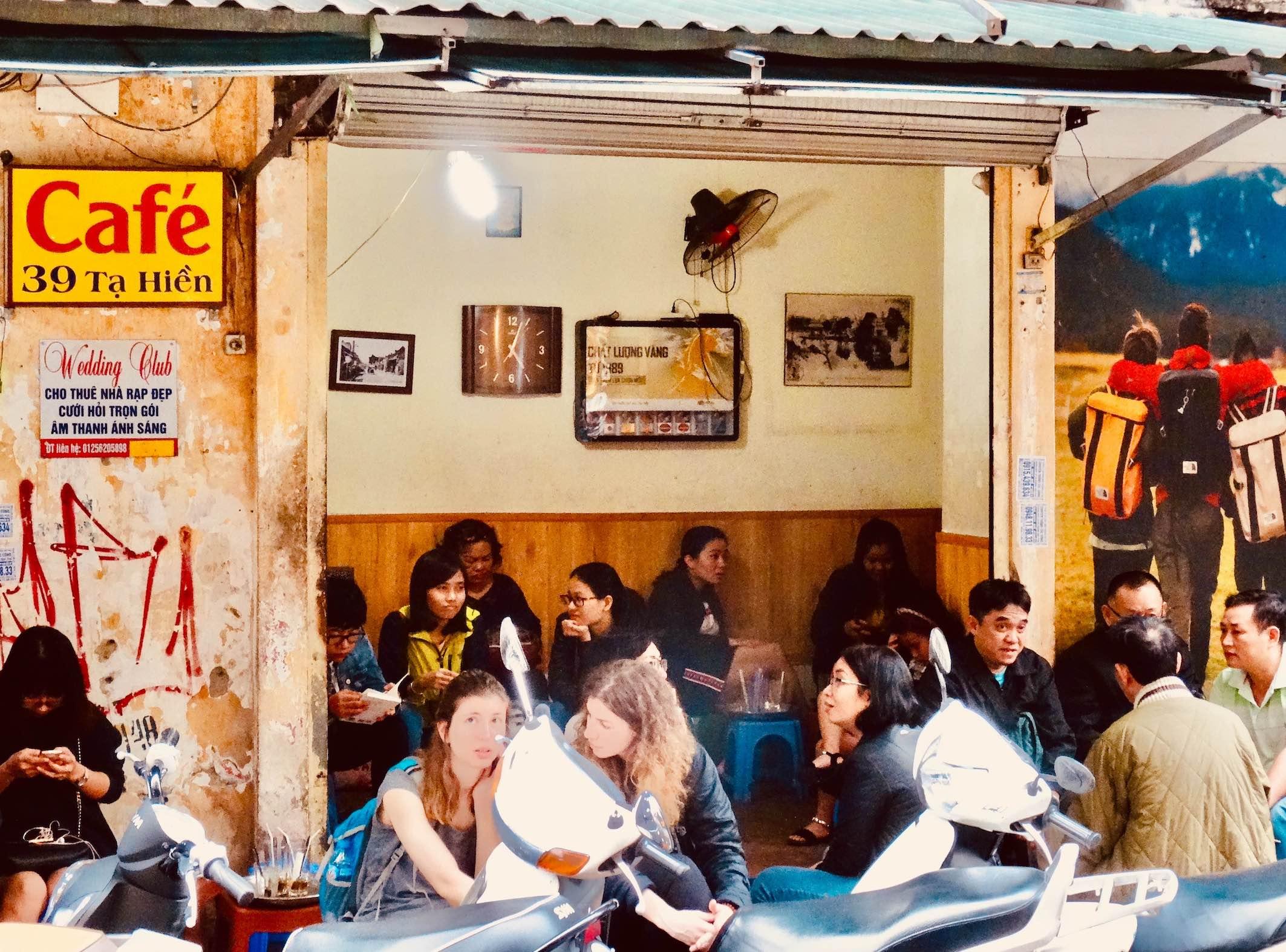Cafe 39 Ta Hien Street Hanoi.