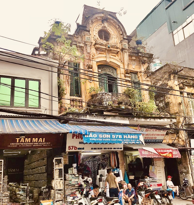 French colonial architecture Hanoi.
