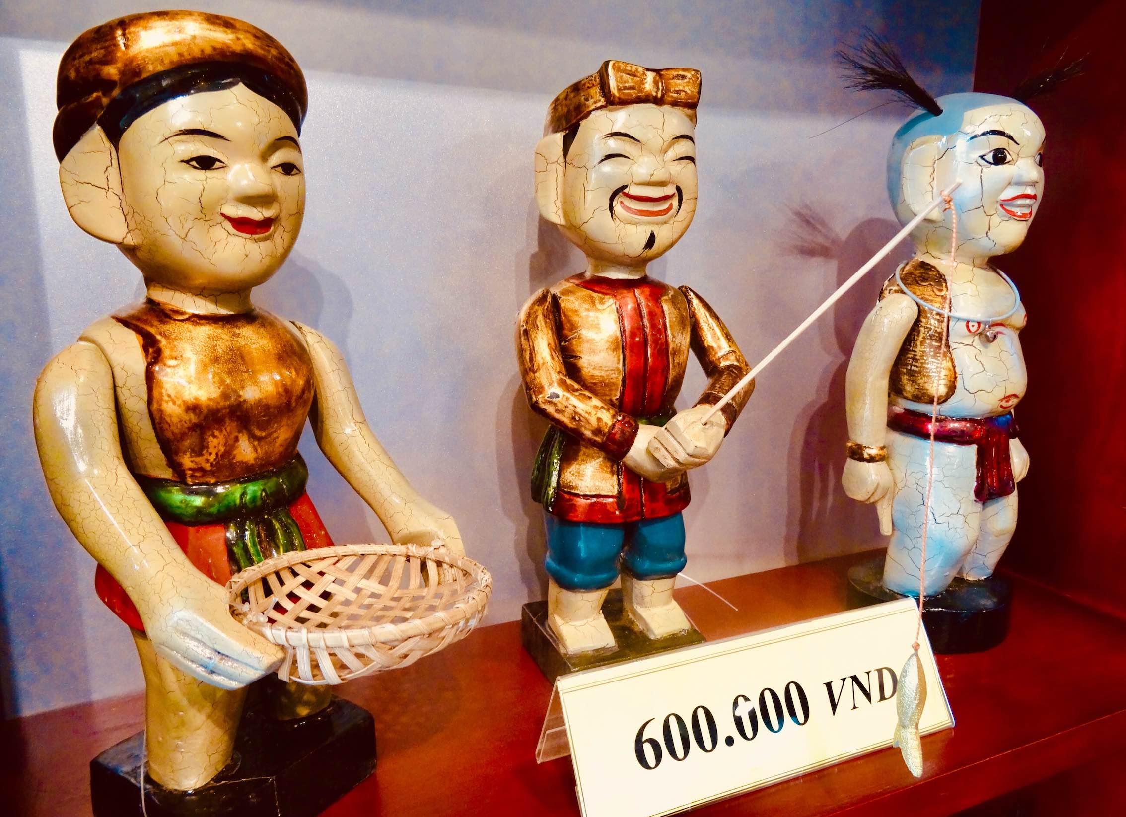 Handmade water puppets Hanoi Vietnam