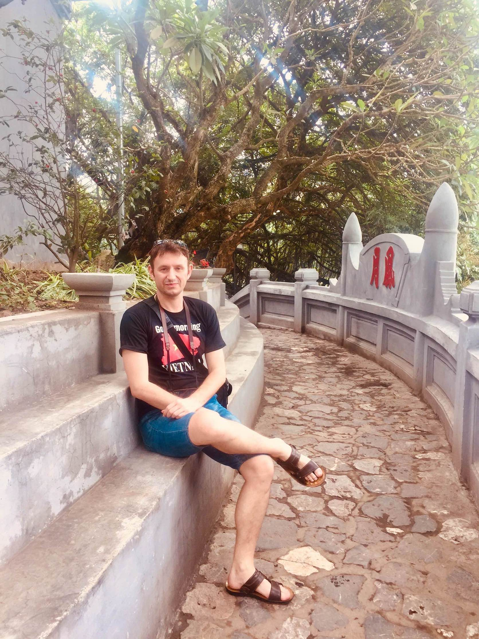 Hanging out at Ngoc Son Temple in Hanoi