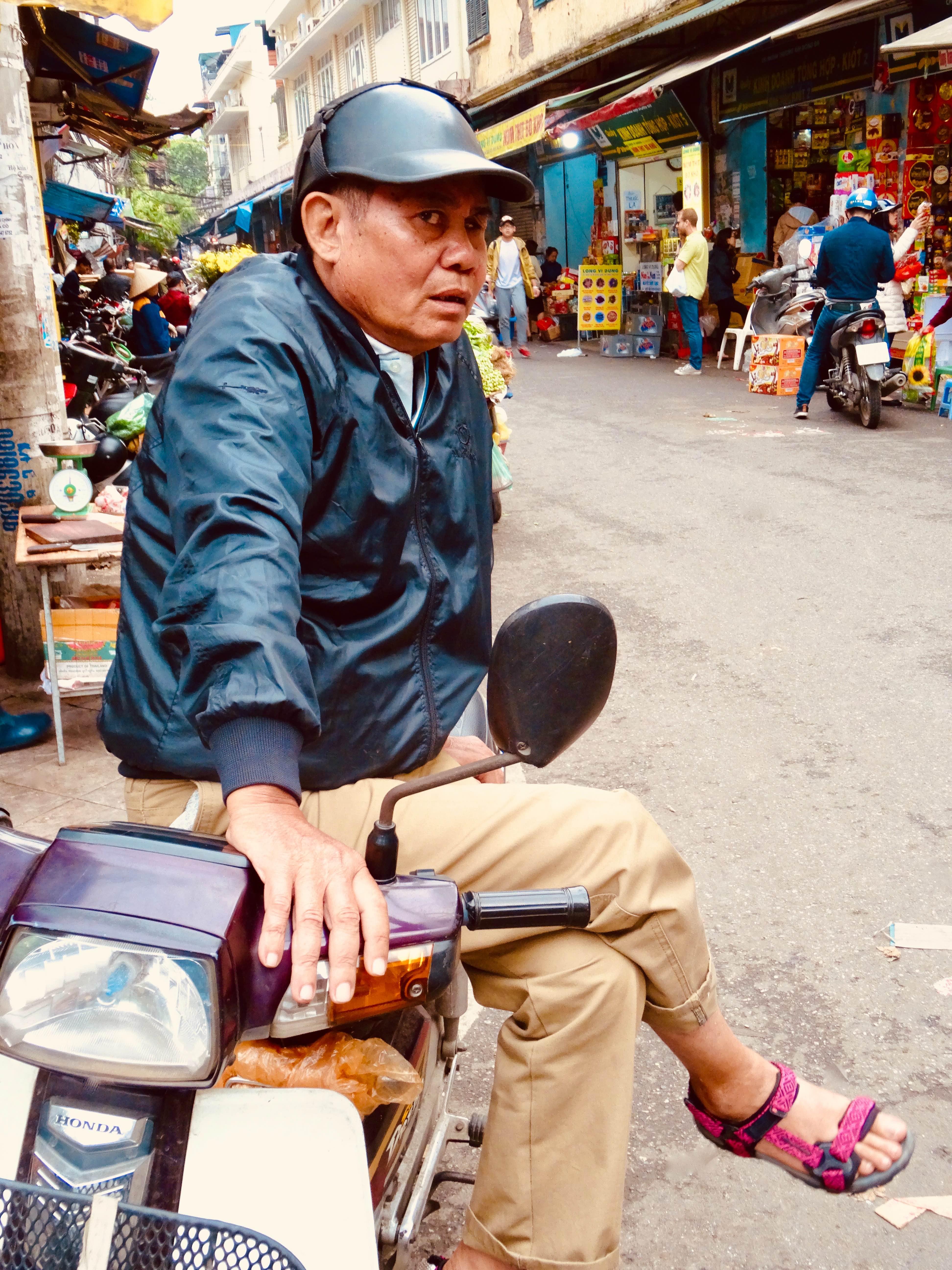 Local man Hanoi Old Quarter.