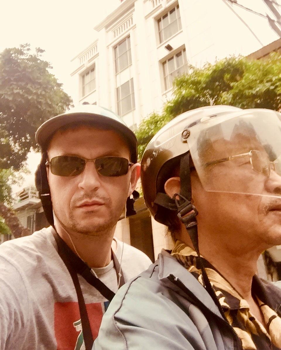 Motorcycle taxi Hanoi.