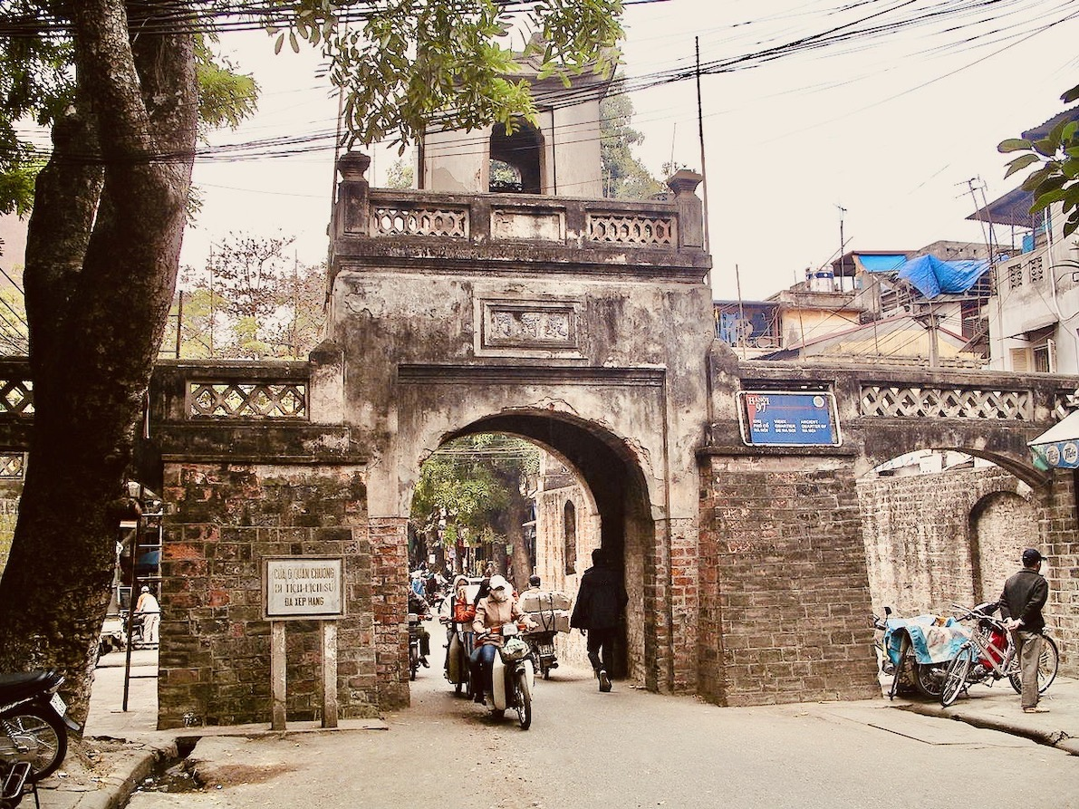 Old City gate Hanoi.