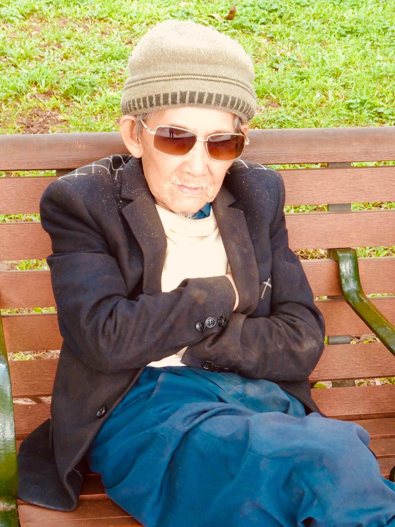 Old man Hanoi Vietnam.