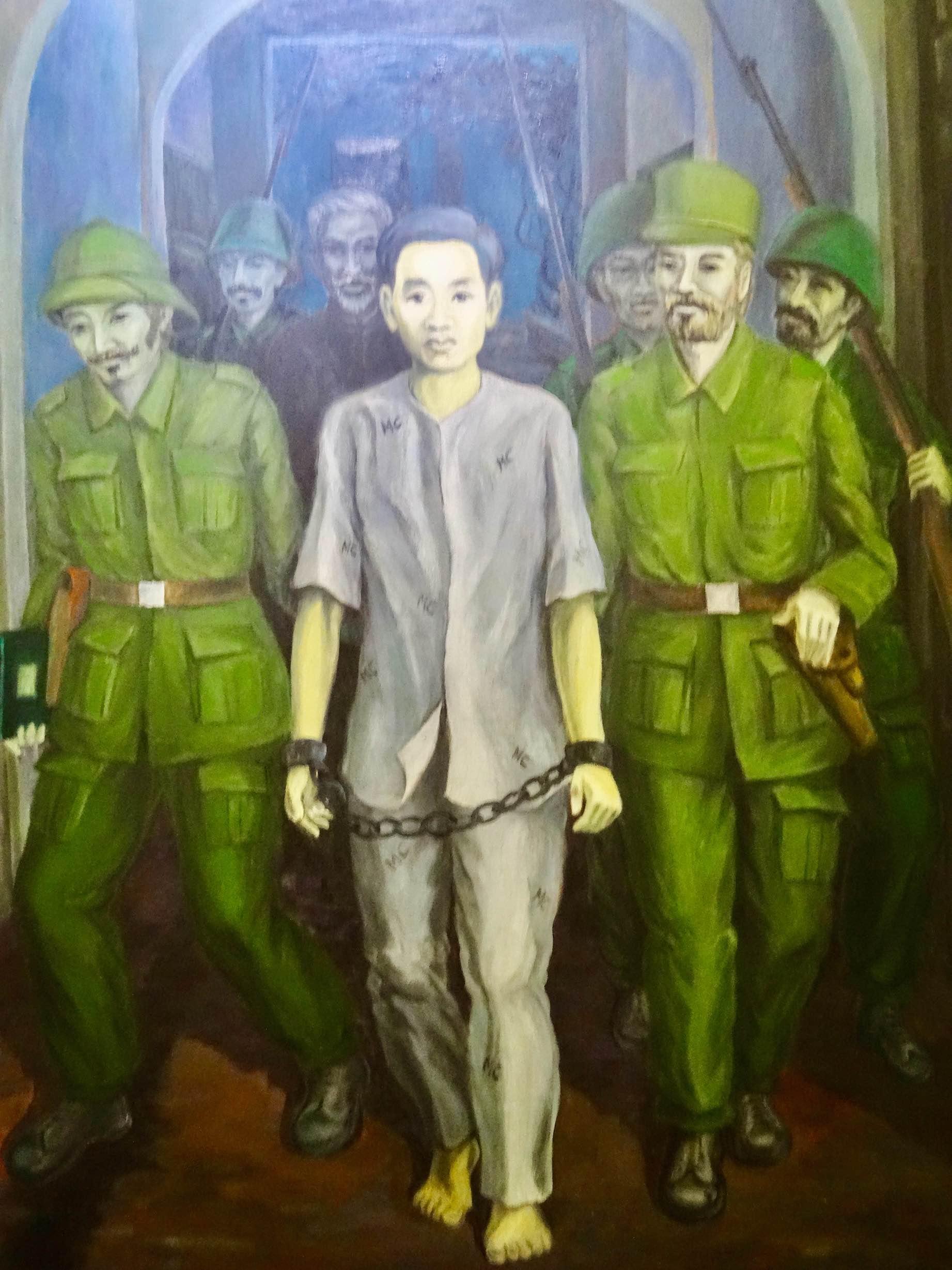 Political prisoner painting Hoa Lo Prison