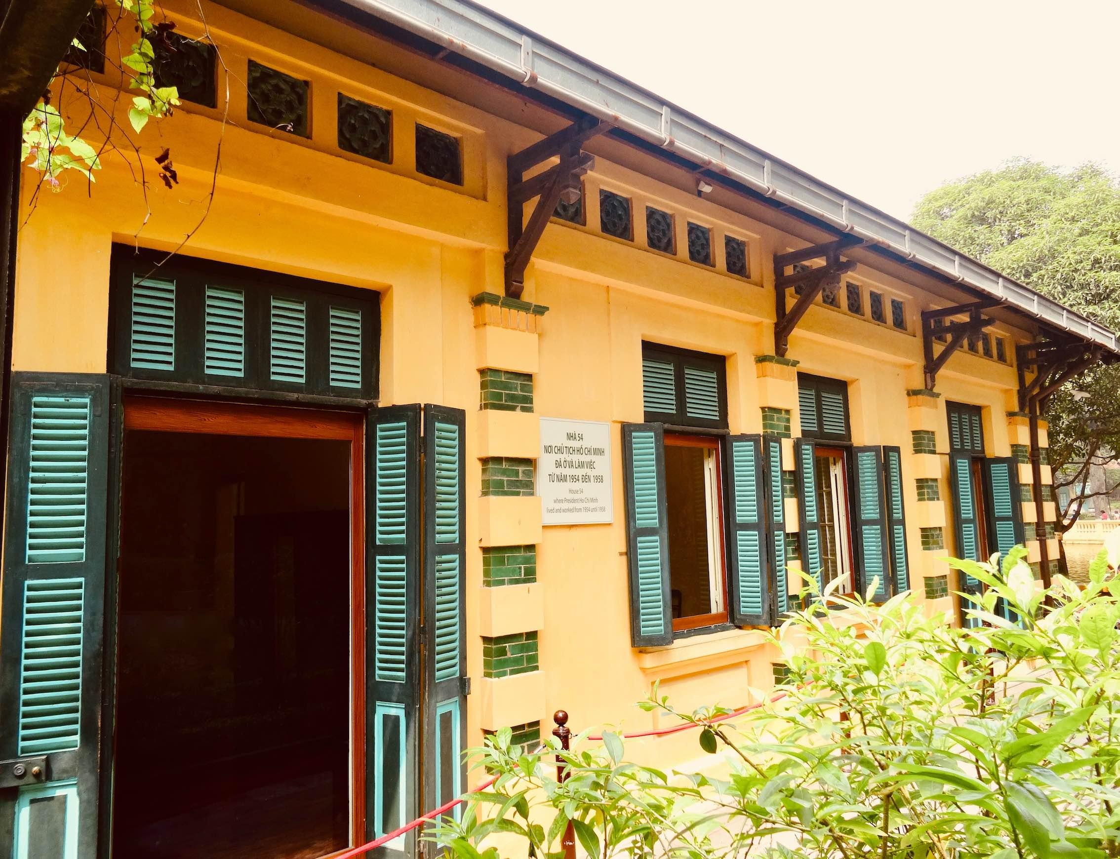 President Ho Chi Minh's former home in Hanoi