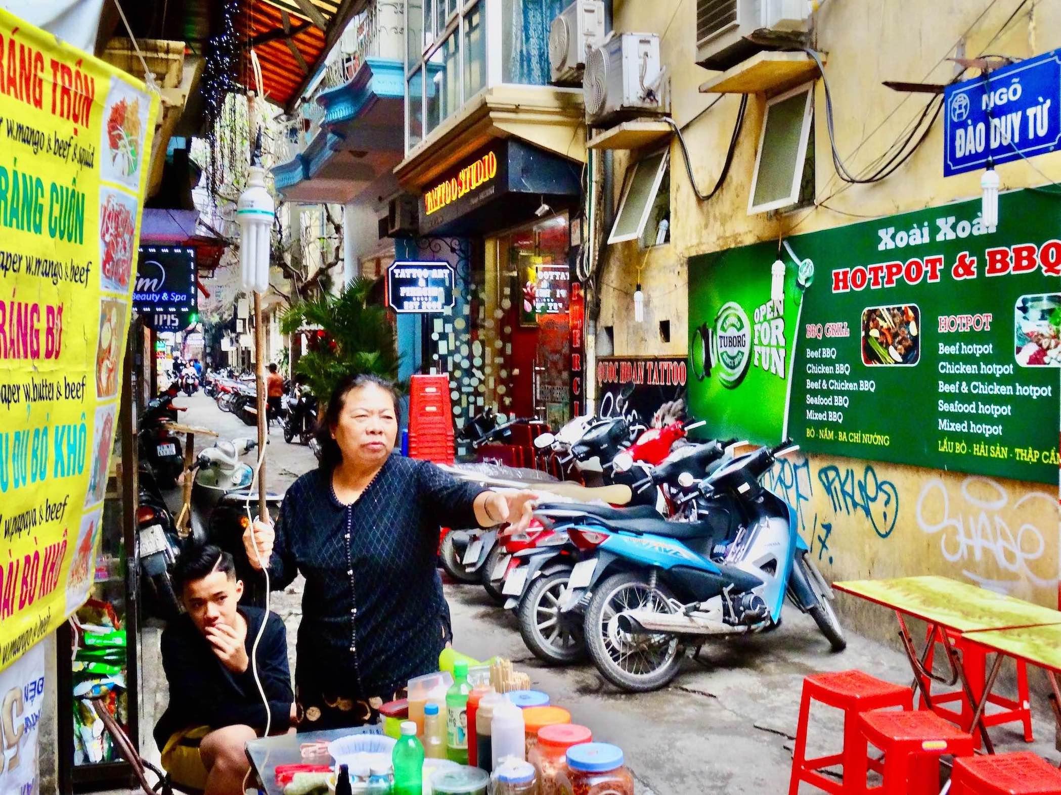 The Old Quarter Hanoi.