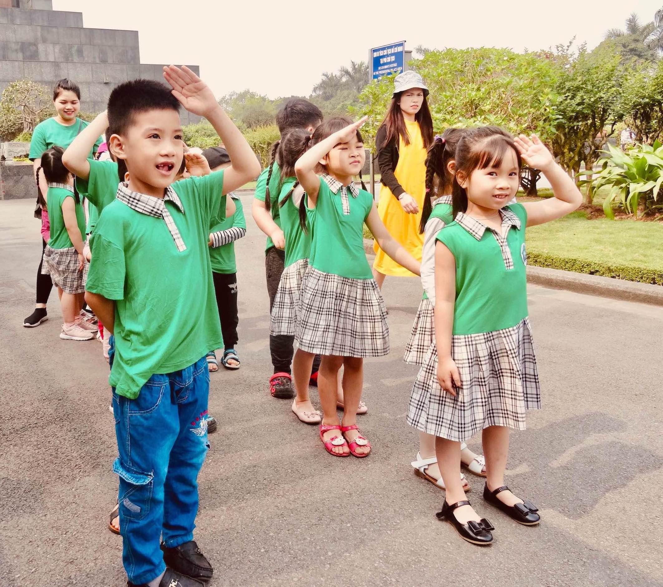 Vietnamese school group