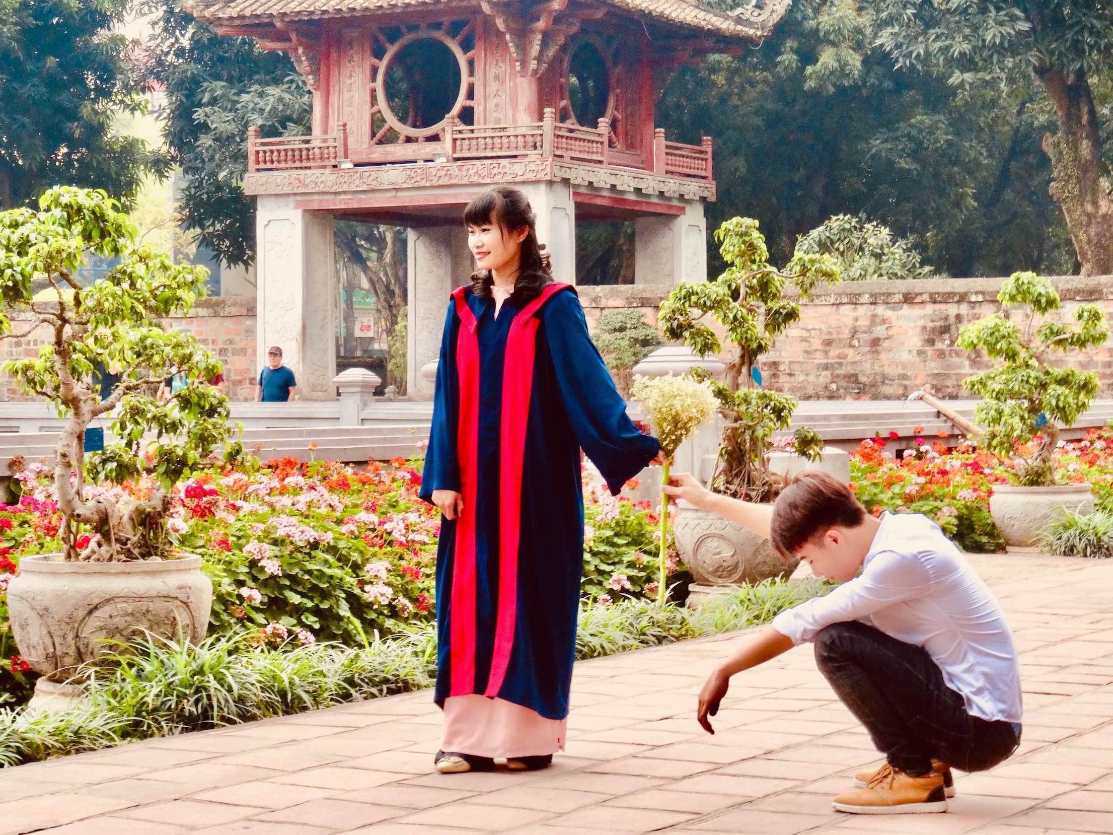 Visit Hanoi Temple of Literature.