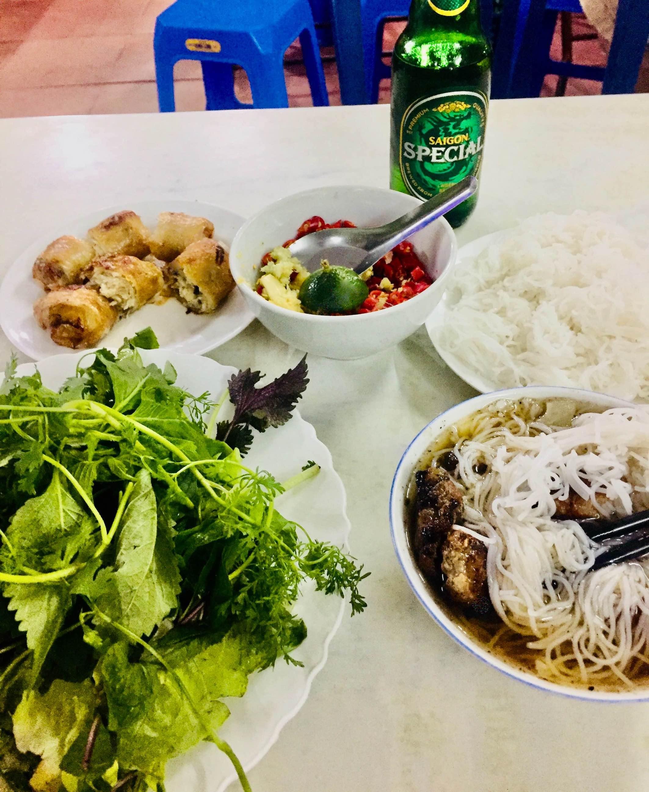 Where to eat Bun Cha in Hanoi.