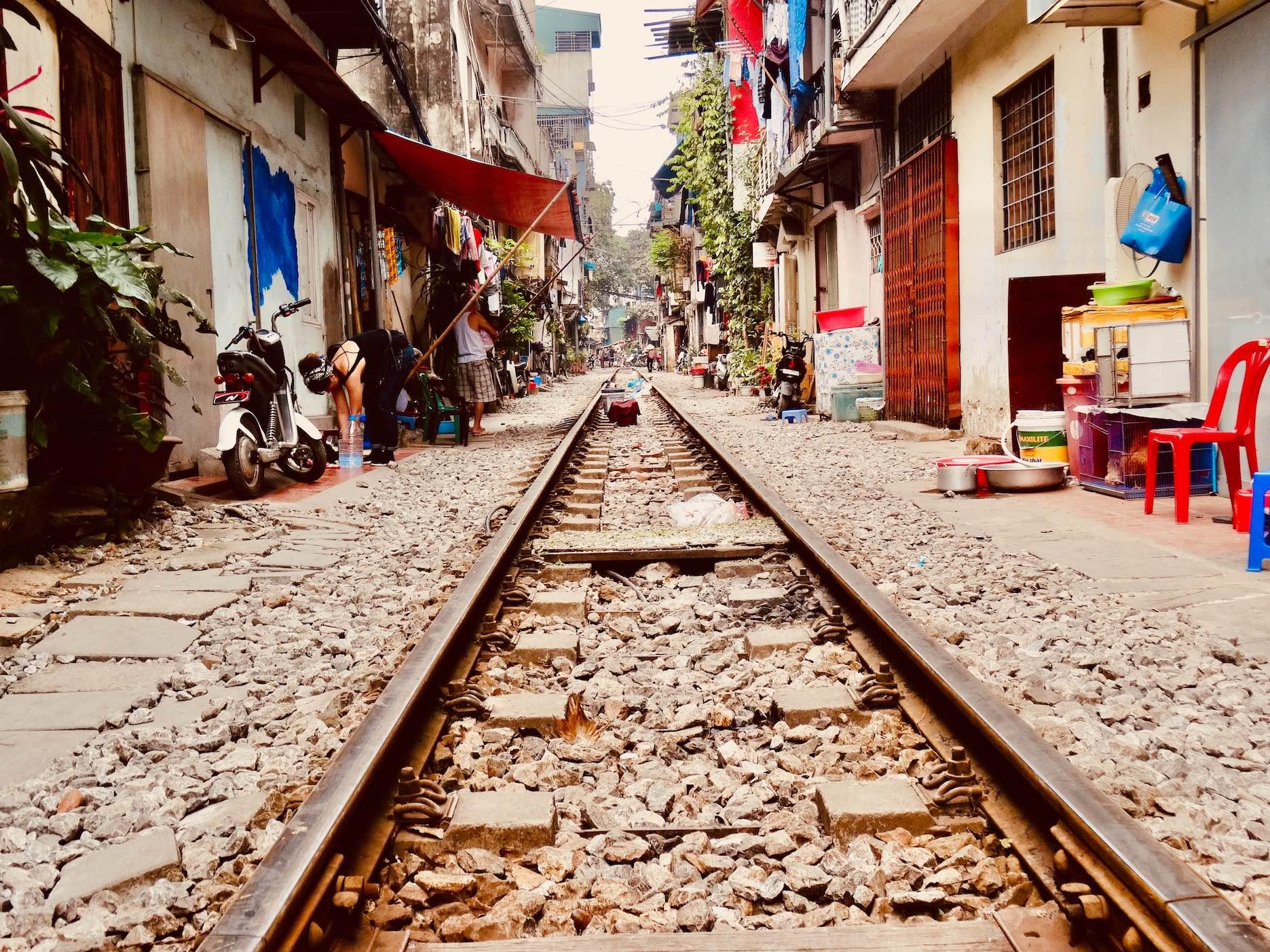 A stroll down Hanoi Train Street.