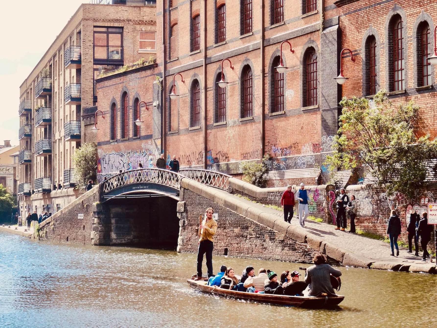 Camden Lock canal tour, London.