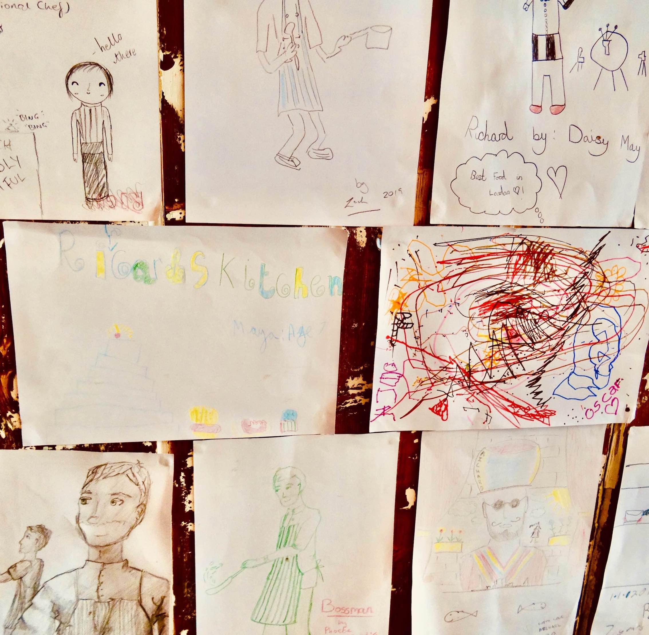 Children's artwork Richard's Kitchen London.