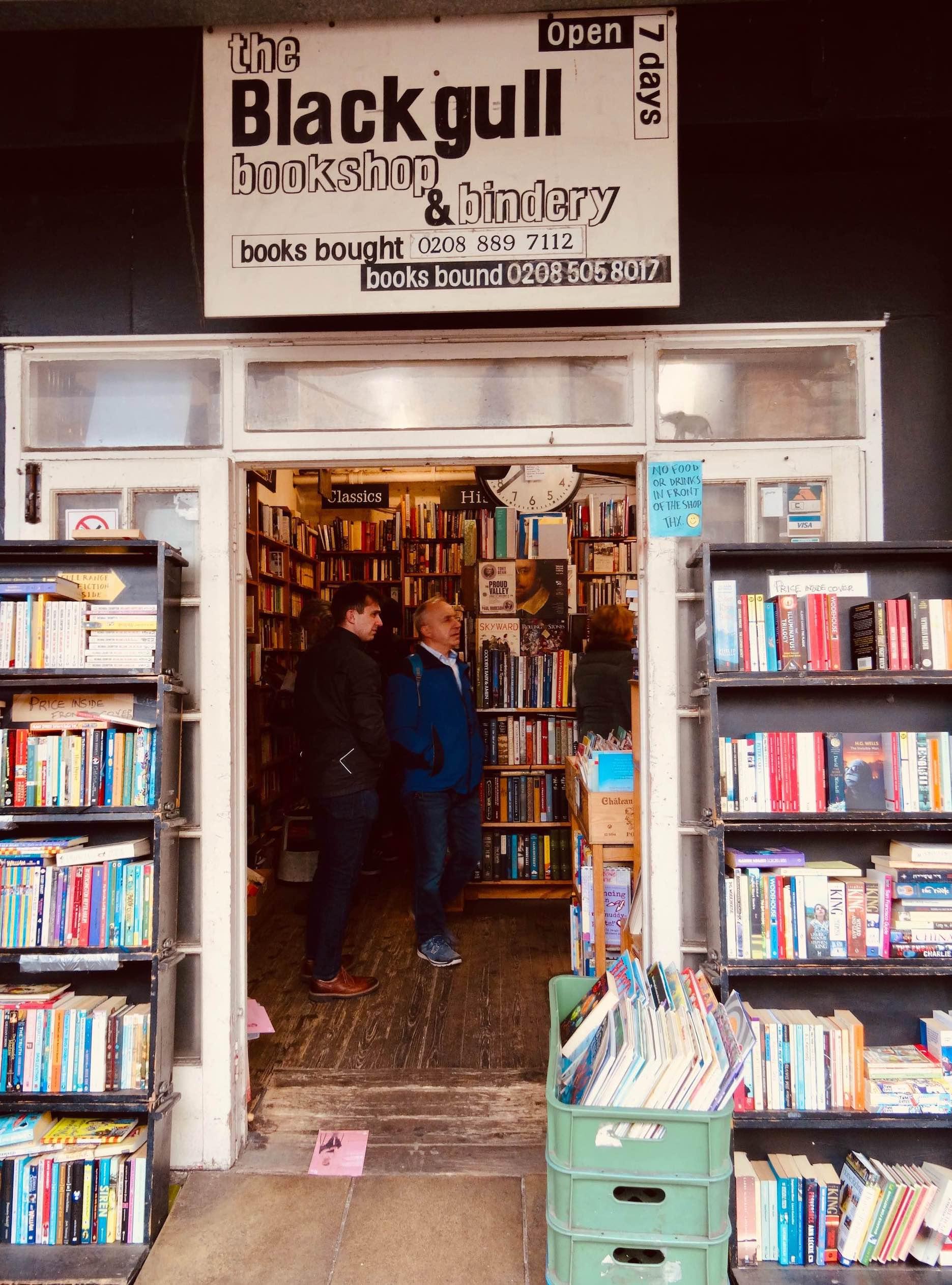 Entrance Black Gull Books Camden Town.