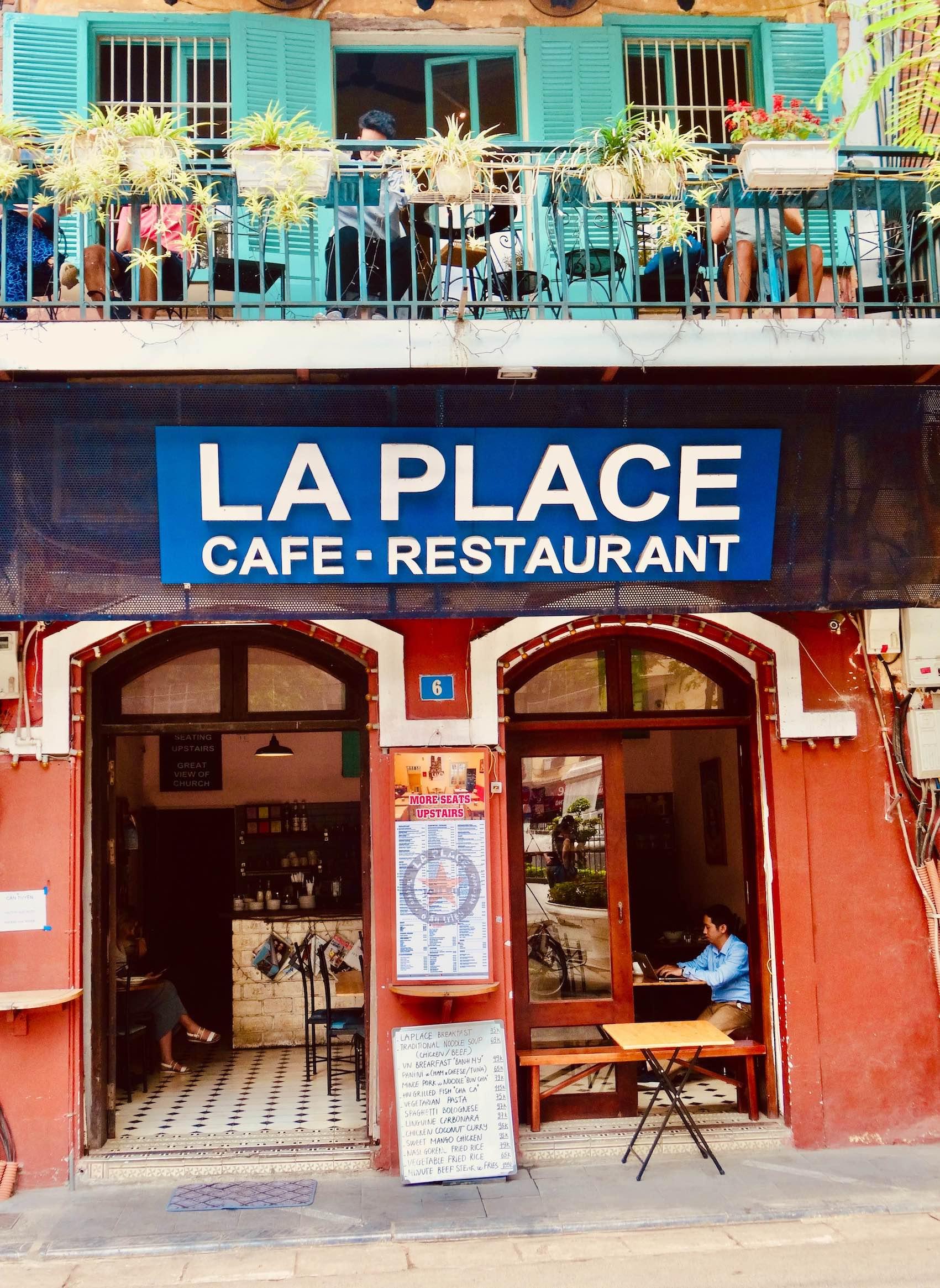 La Place Cafe in Hanoi.