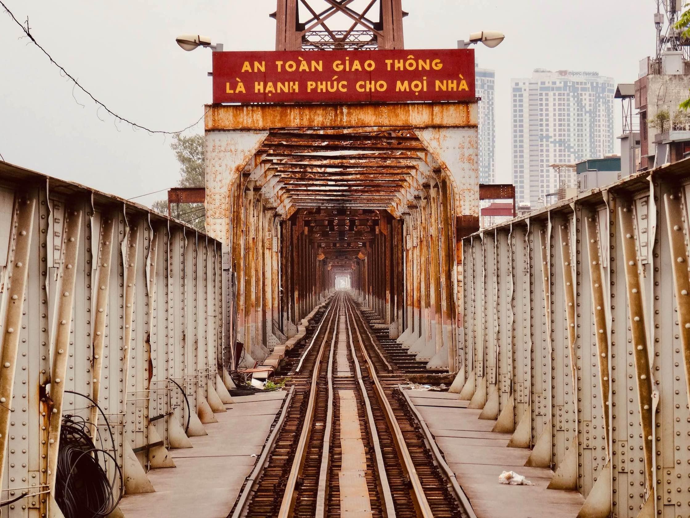 Long Bien Railway Bridge Hanoi.