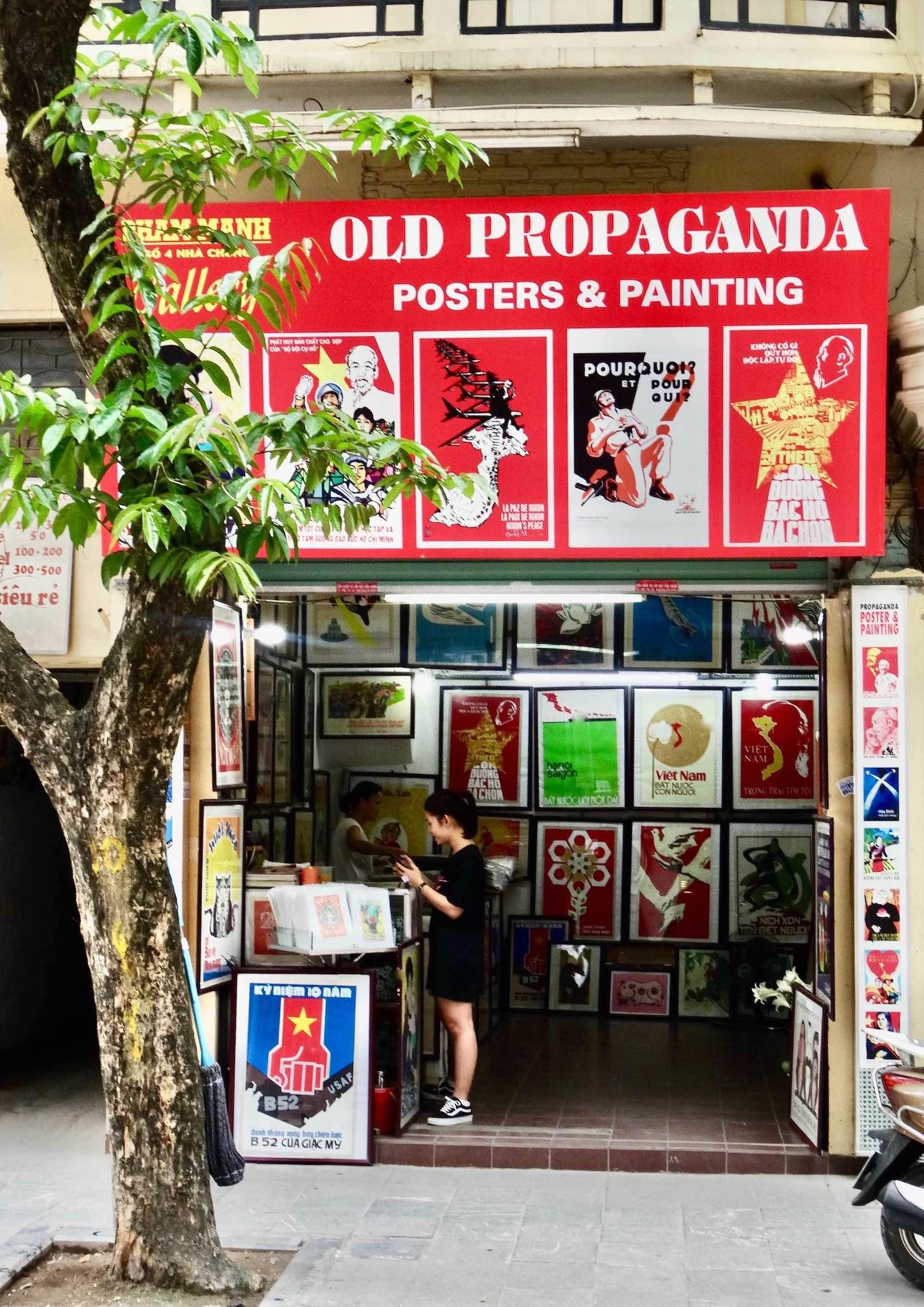 Pham Manh Gallery Propaganda Posters and Paintings Hanoi