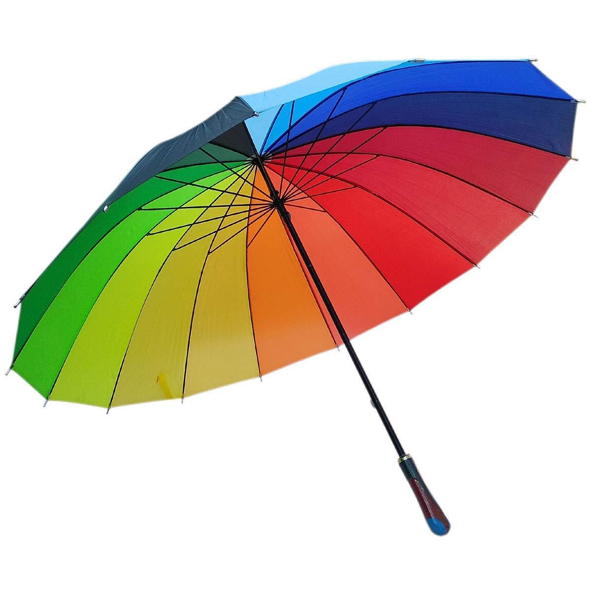 Rainbow umbrella.