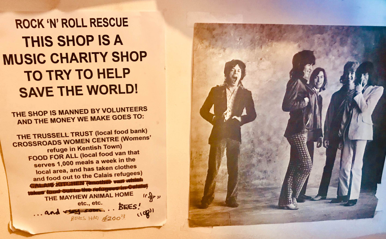 Rock n Roll Rescue charity shop Camden Town