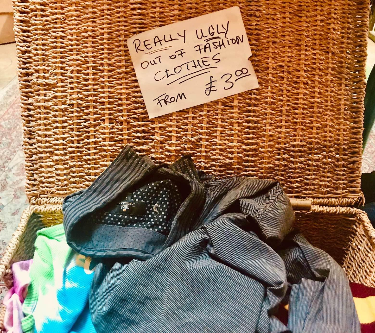 Second hand clothes Camden Town.