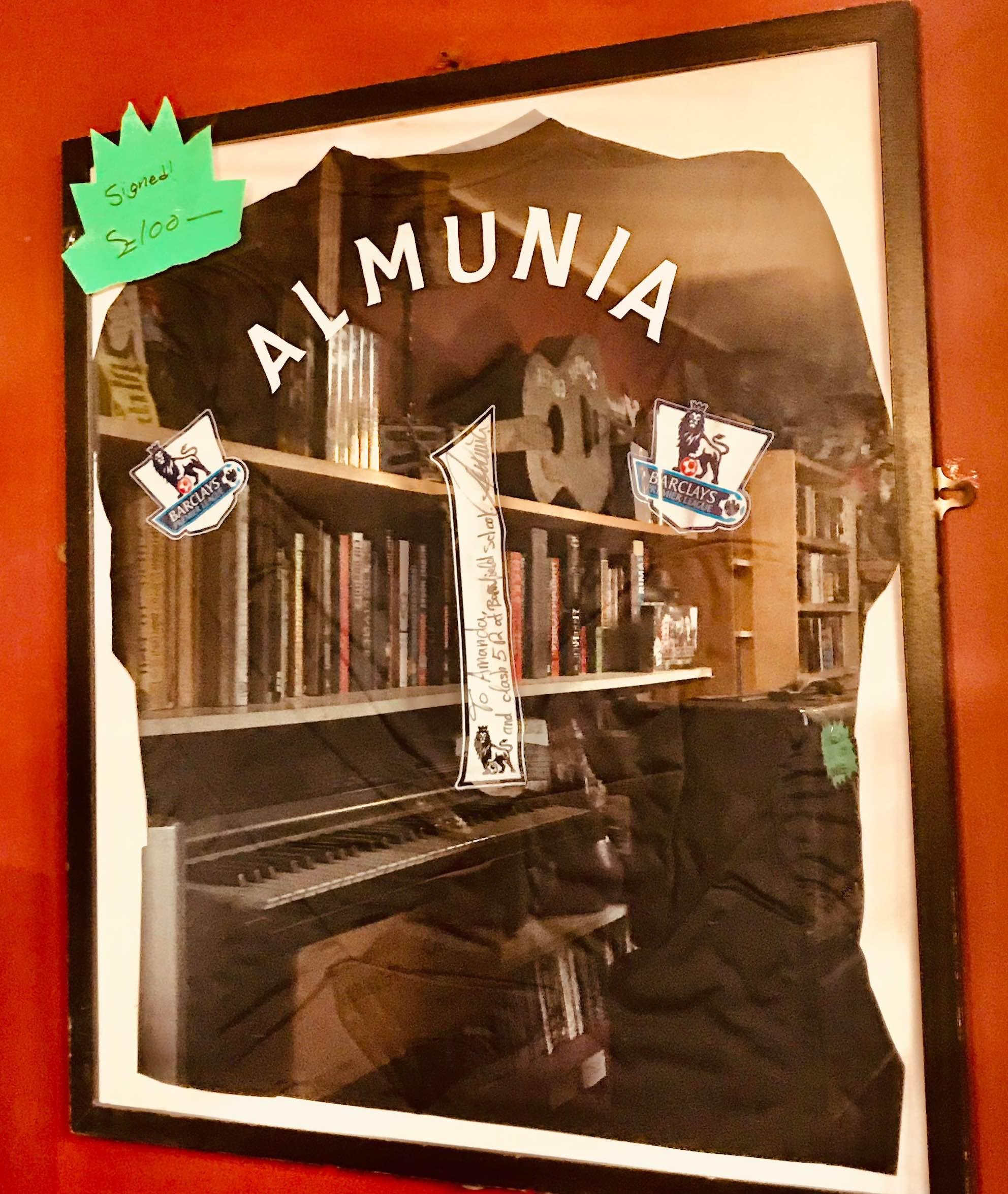 Signed Almunia Arsenal shirt Camden Town London