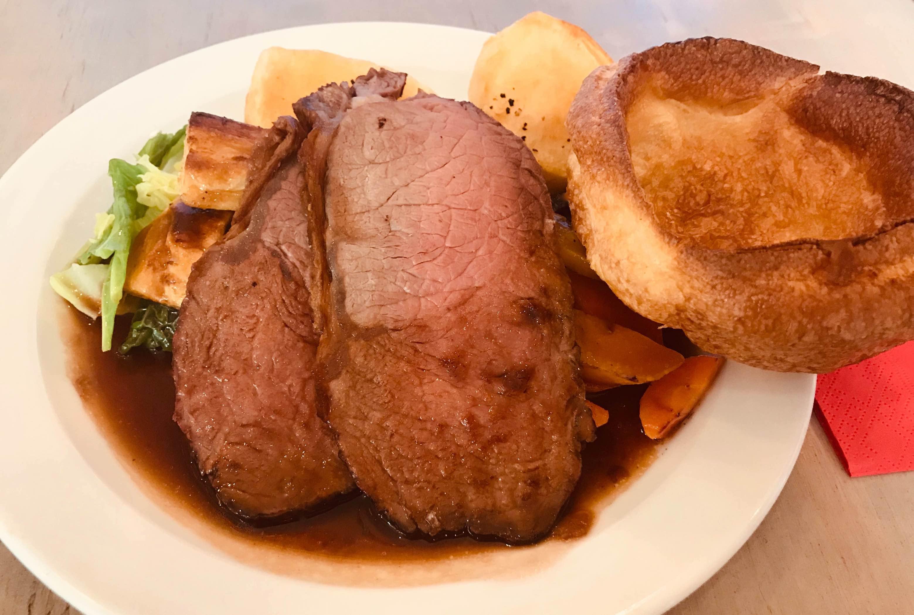 Sunday Roast beef Richard's Kitchen Tooting Bec.
