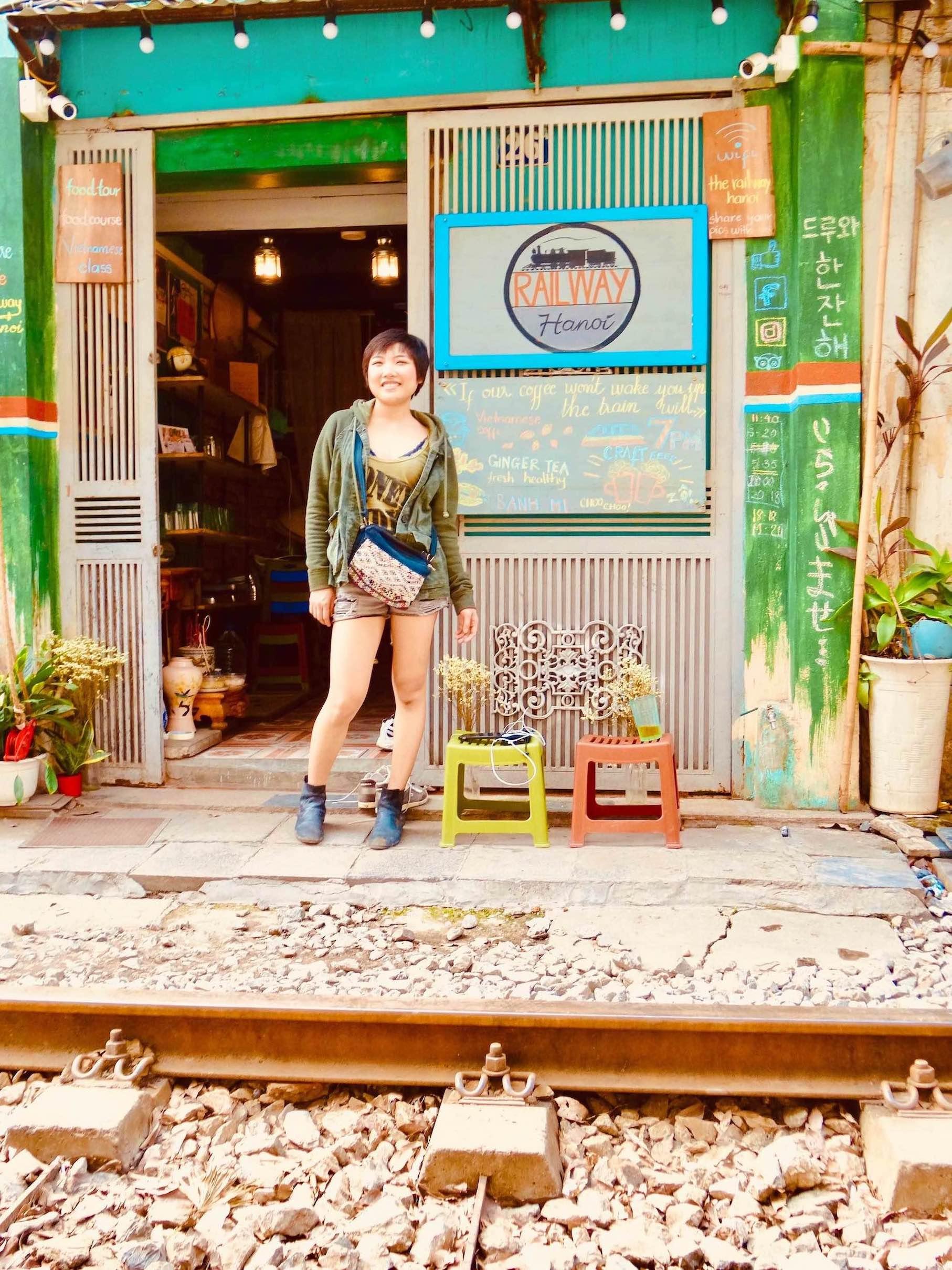 Thao Quach The Railway Cafe Hanoi.
