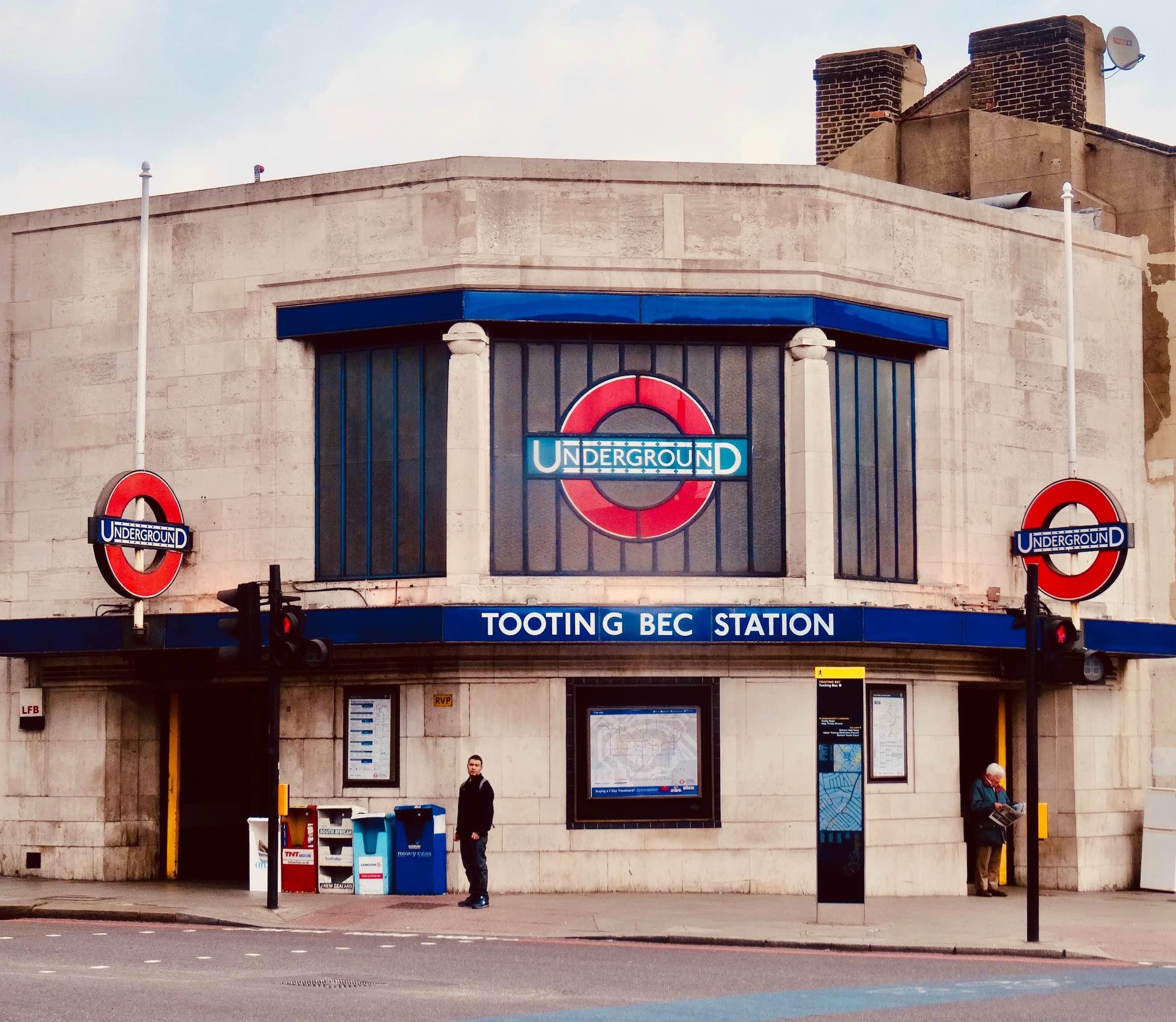 Tooting Bec Underground Station London