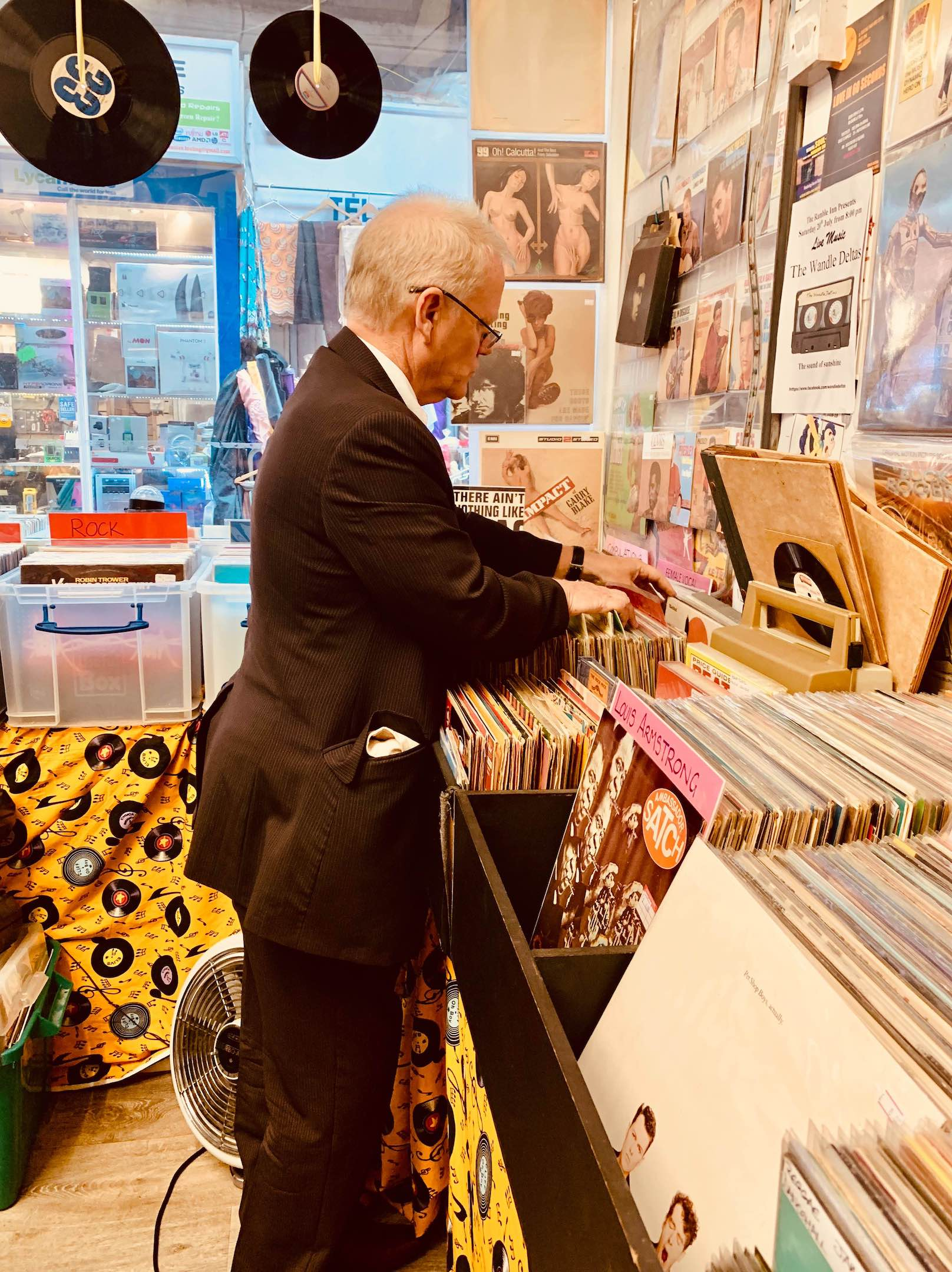 Vinyl store Tooting Bec London.